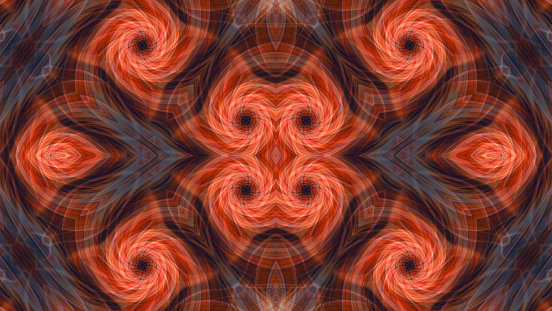 Guillochis Spiral Orange Color 1920x1080