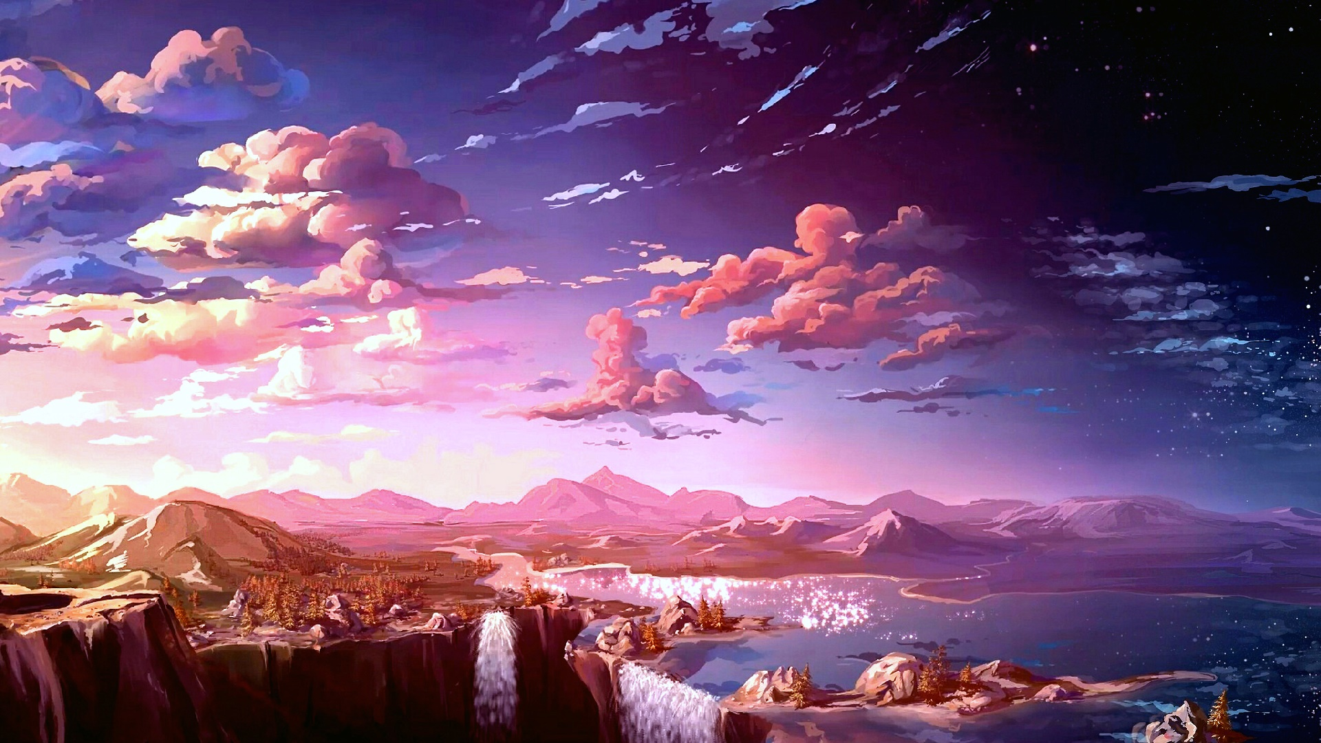 Cloud Landscape Mountain Sky 1920x1080