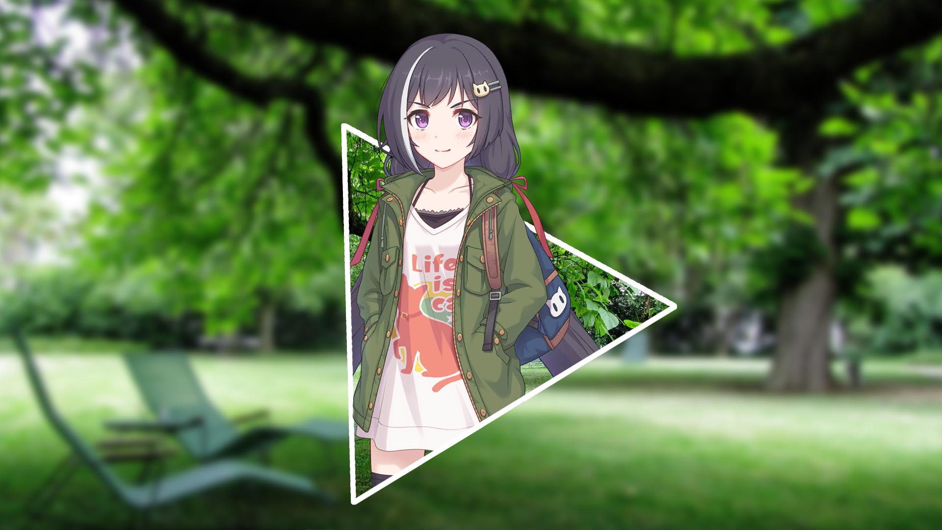 Anime Girls Kyaru Princess Connect Princess Connect Re Dive Anime Nature Blurred Purple Eyes Triangl 1920x1080