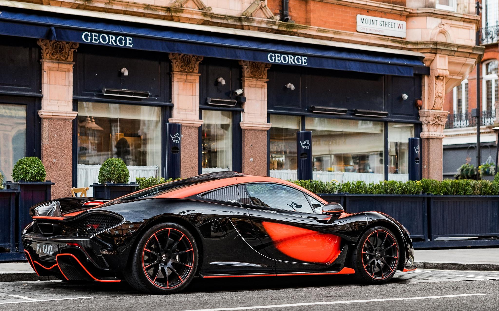 Black Car Car Mclaren Mclaren P1 Sport Car Supercar Vehicle 2048x1280