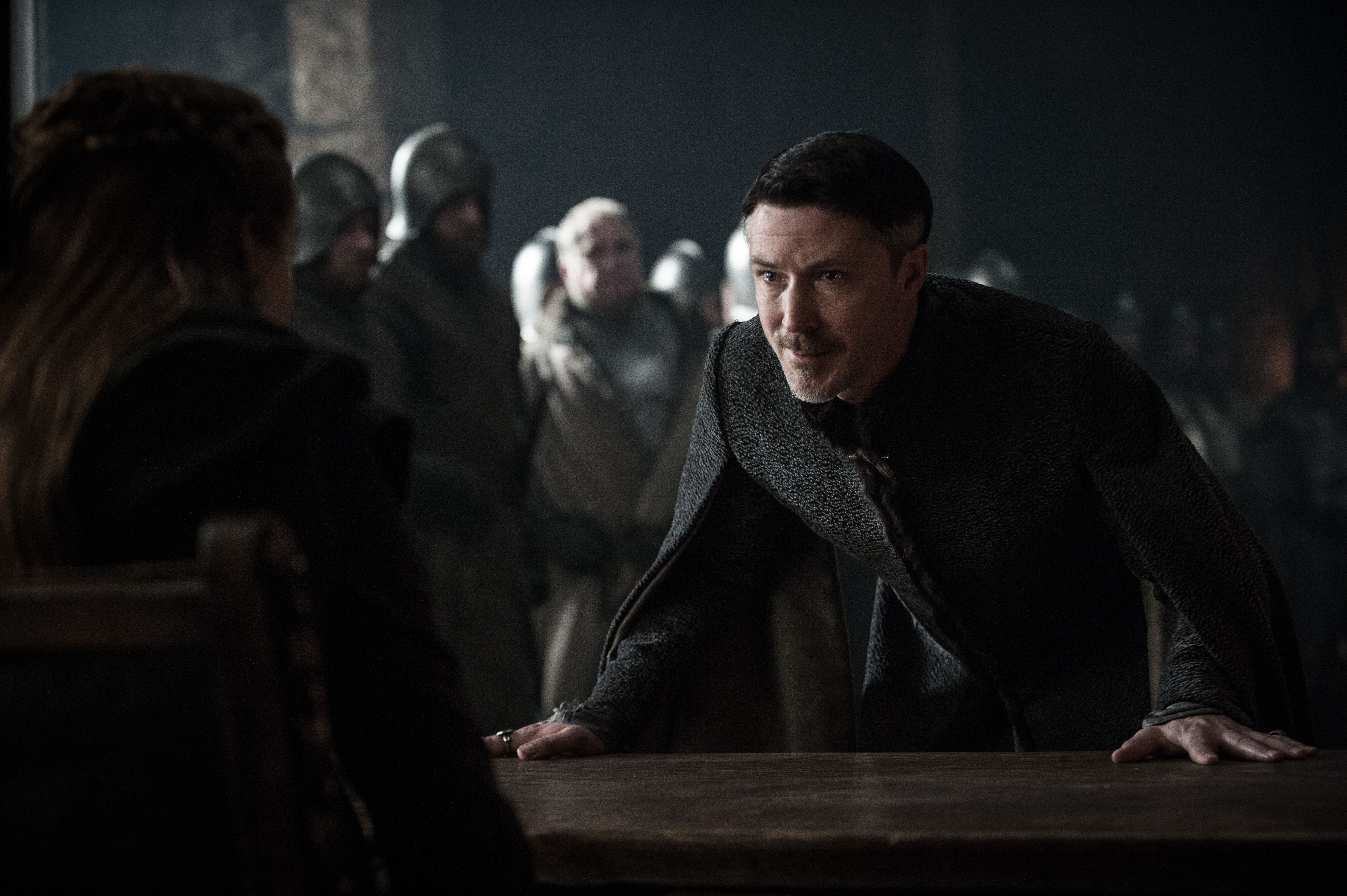 Aidan Gillen Petyr Baelish Sansa Stark Sophie Turner 4500x2995