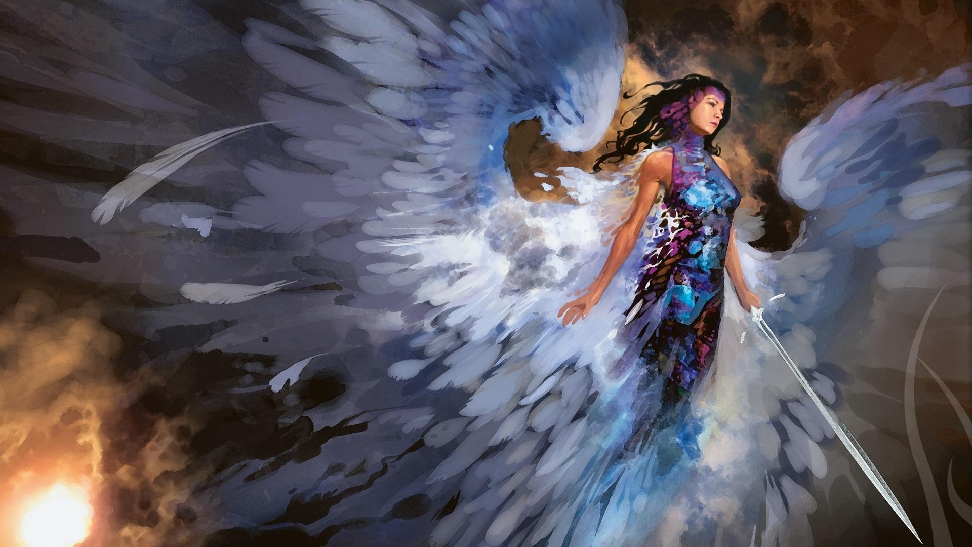 Angel Sword Wings 1920x1080