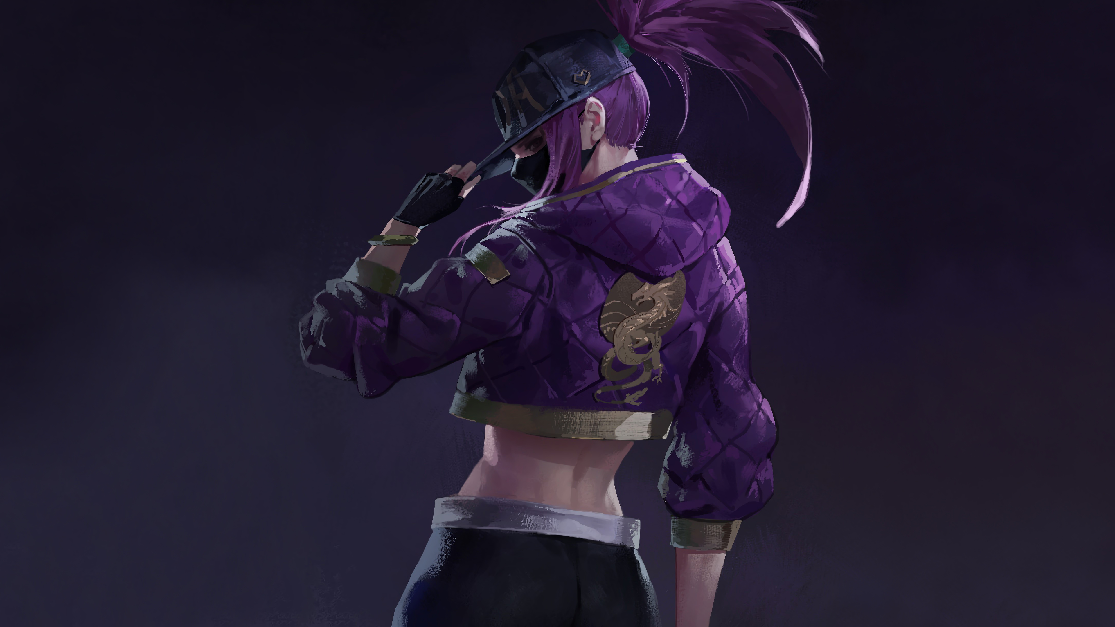 League Of Legends Akali League Of Legends Video Game Art Video Games Video Game Characters Violet Ha 3840x2160