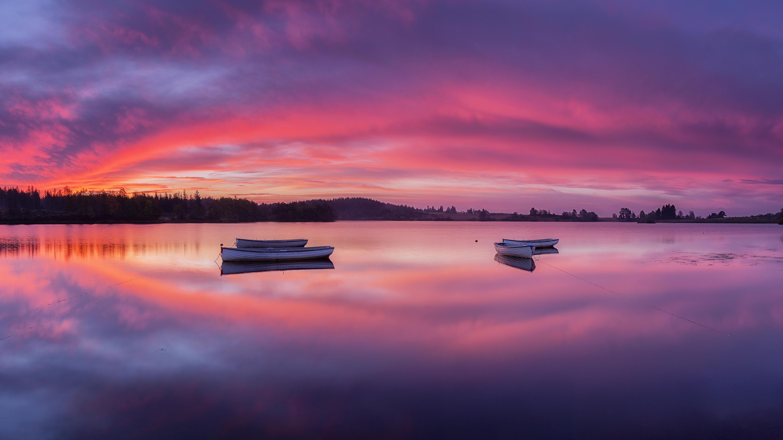 Boat Lake Loch Lomond Scotland Sunset 6000x3375