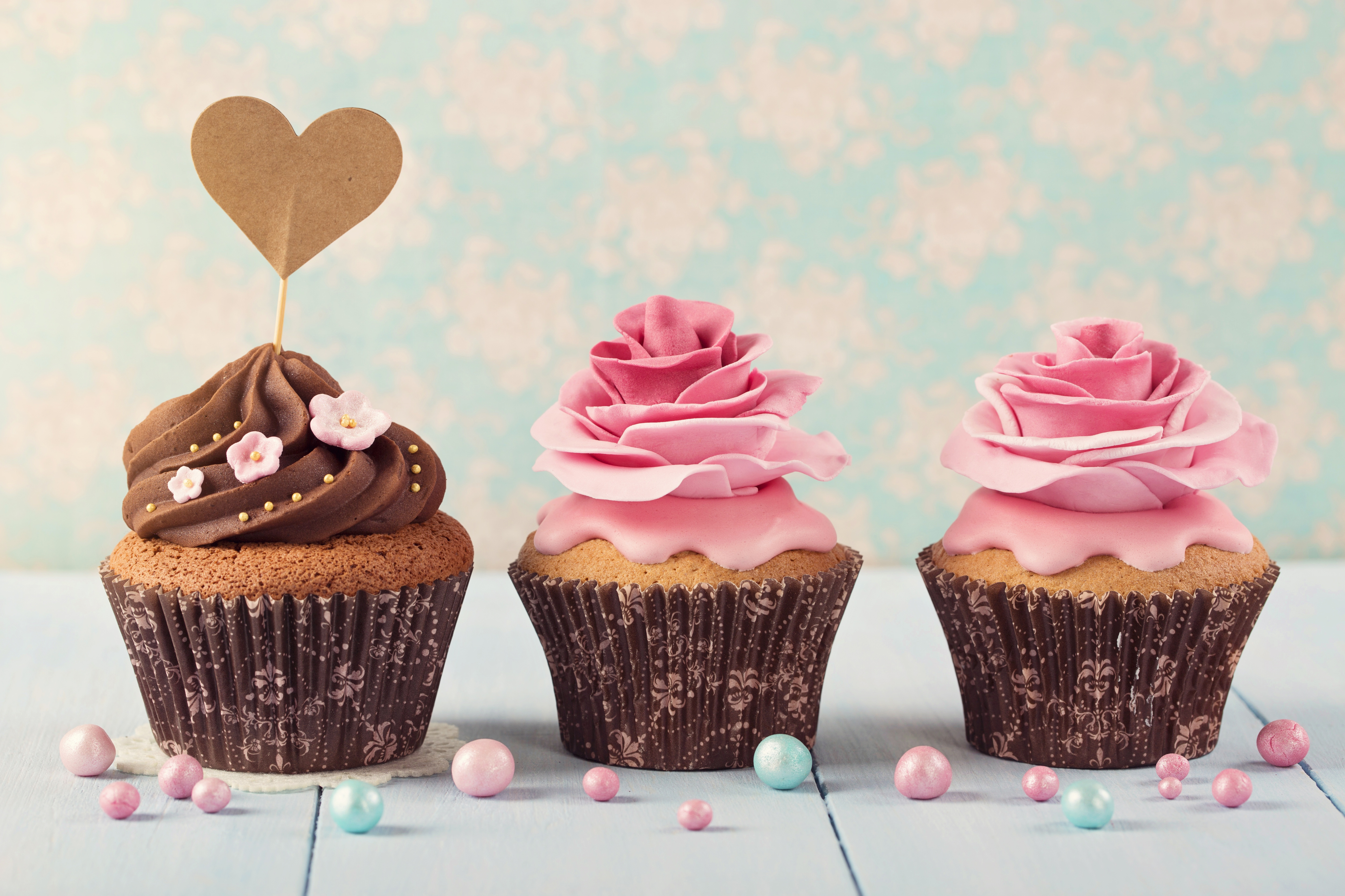 Cream Cupcake Icing Pastry Sweets 5760x3840