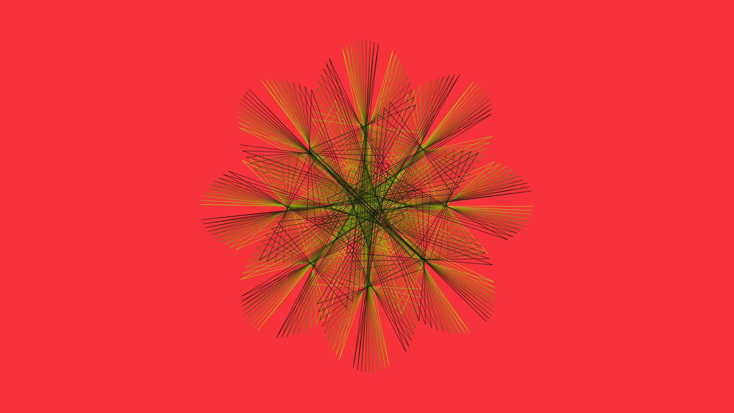 Artistic Digital Art Fractal Orange Color 2560x1440
