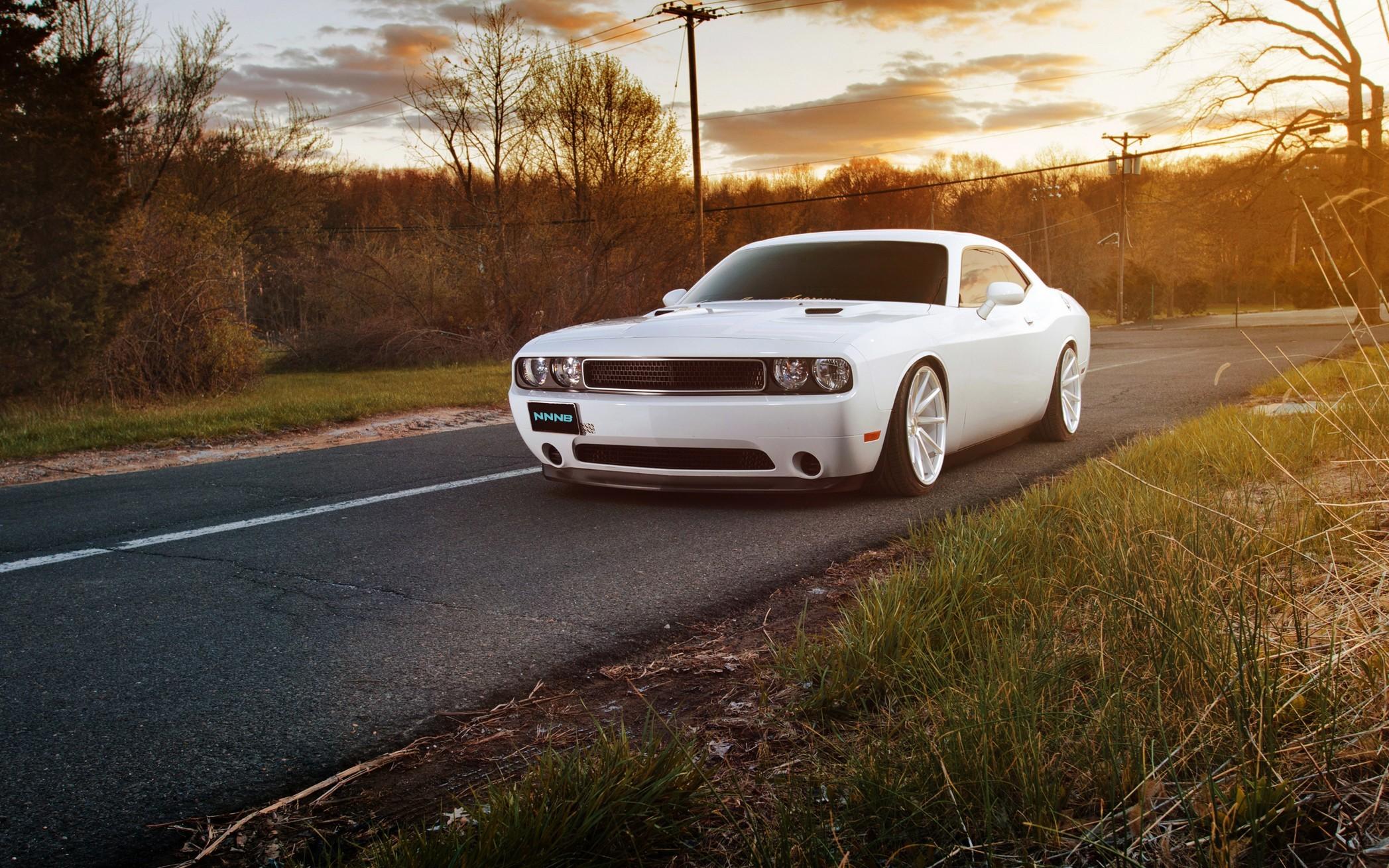 Dodge Muscle Car White Car 2095x1310