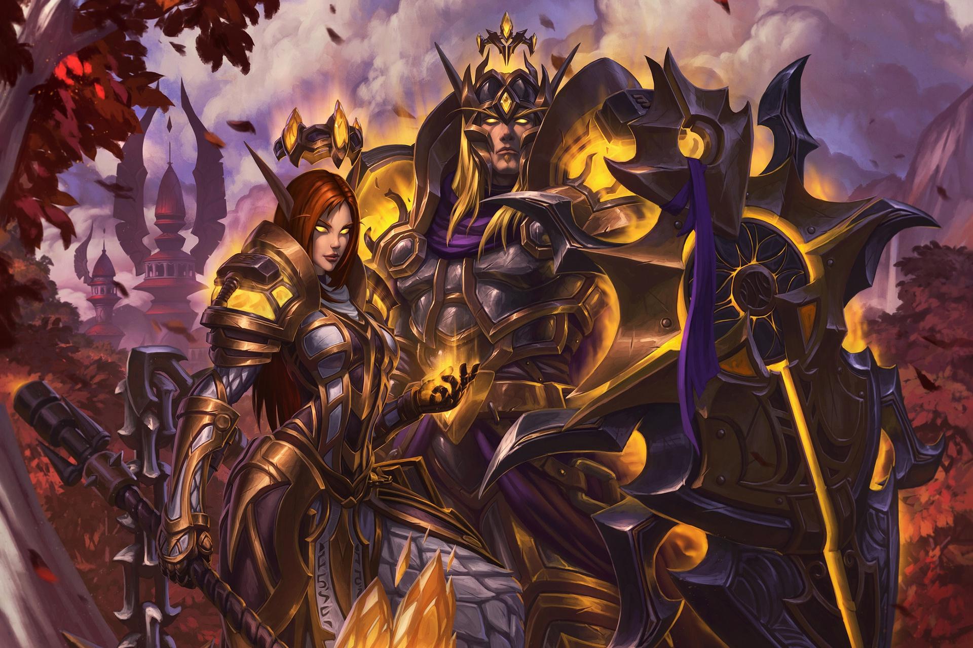 Armor Elf Pointed Ears Shield Warrior Woman Warrior World Of Warcraft 1920x1280