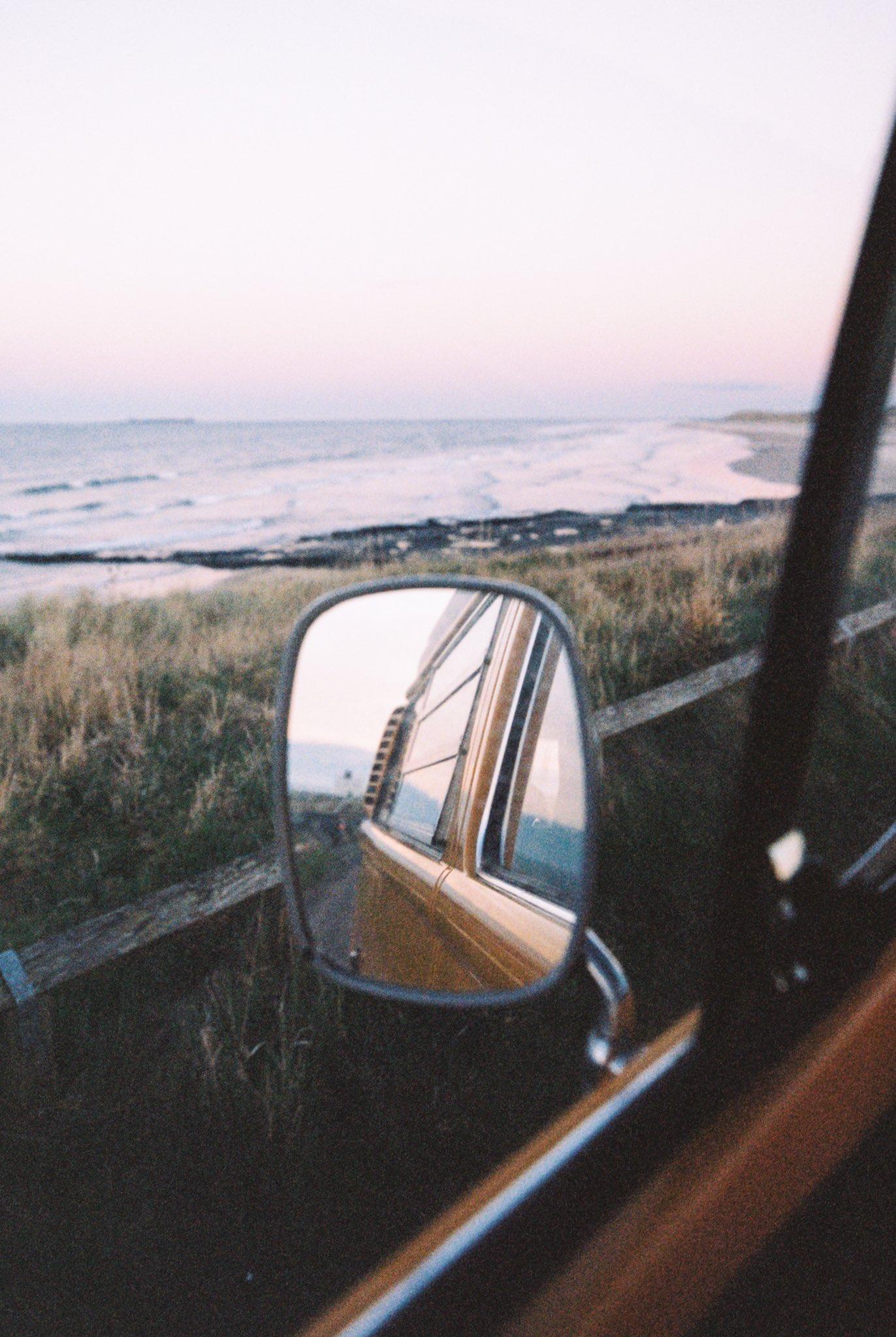 Rearview Mirror Beach Inside A Car Sea Portrait Display 1372x2048