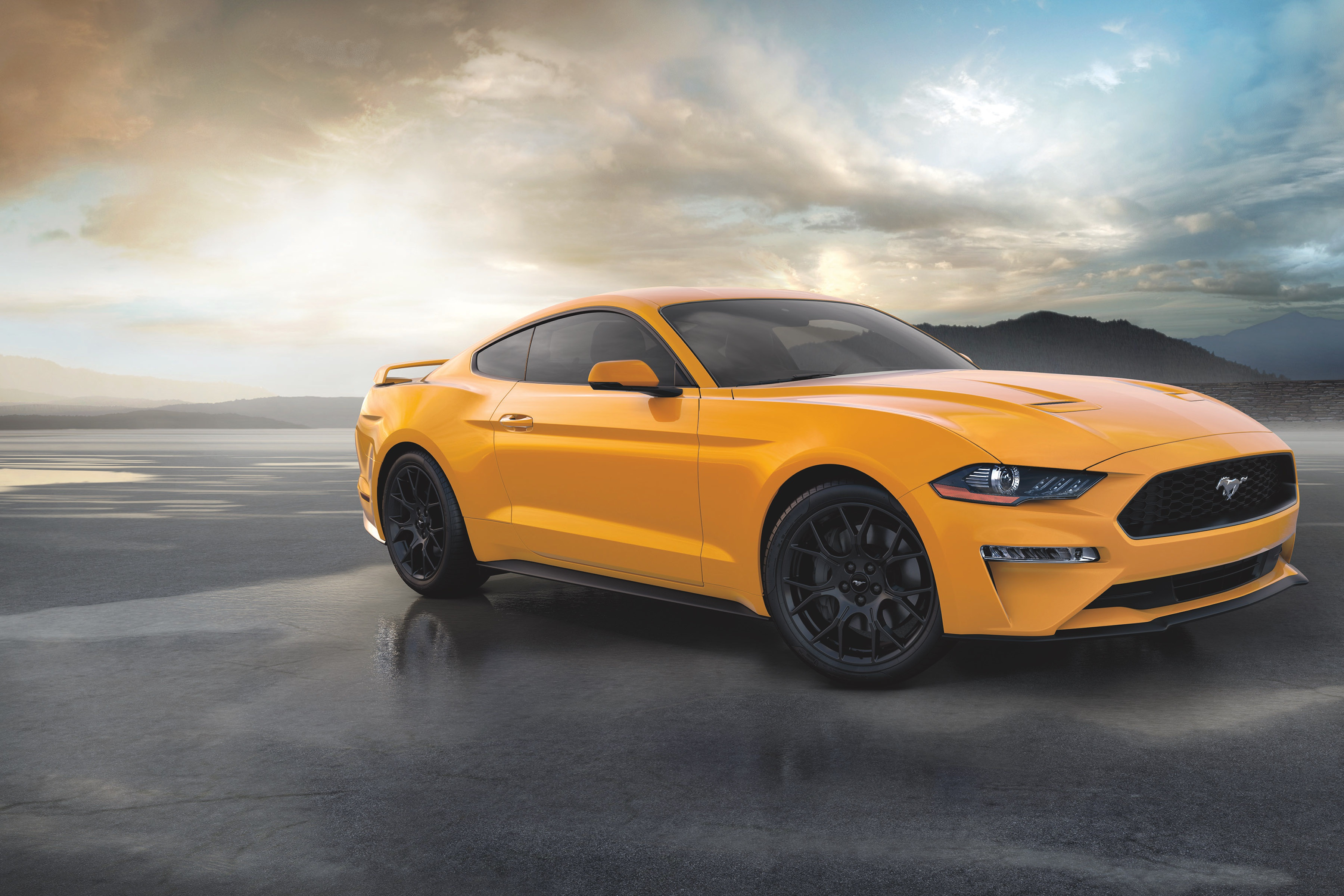 Car Ford Ford Mustang Muscle Car Orange Car Vehicle 3600x2401