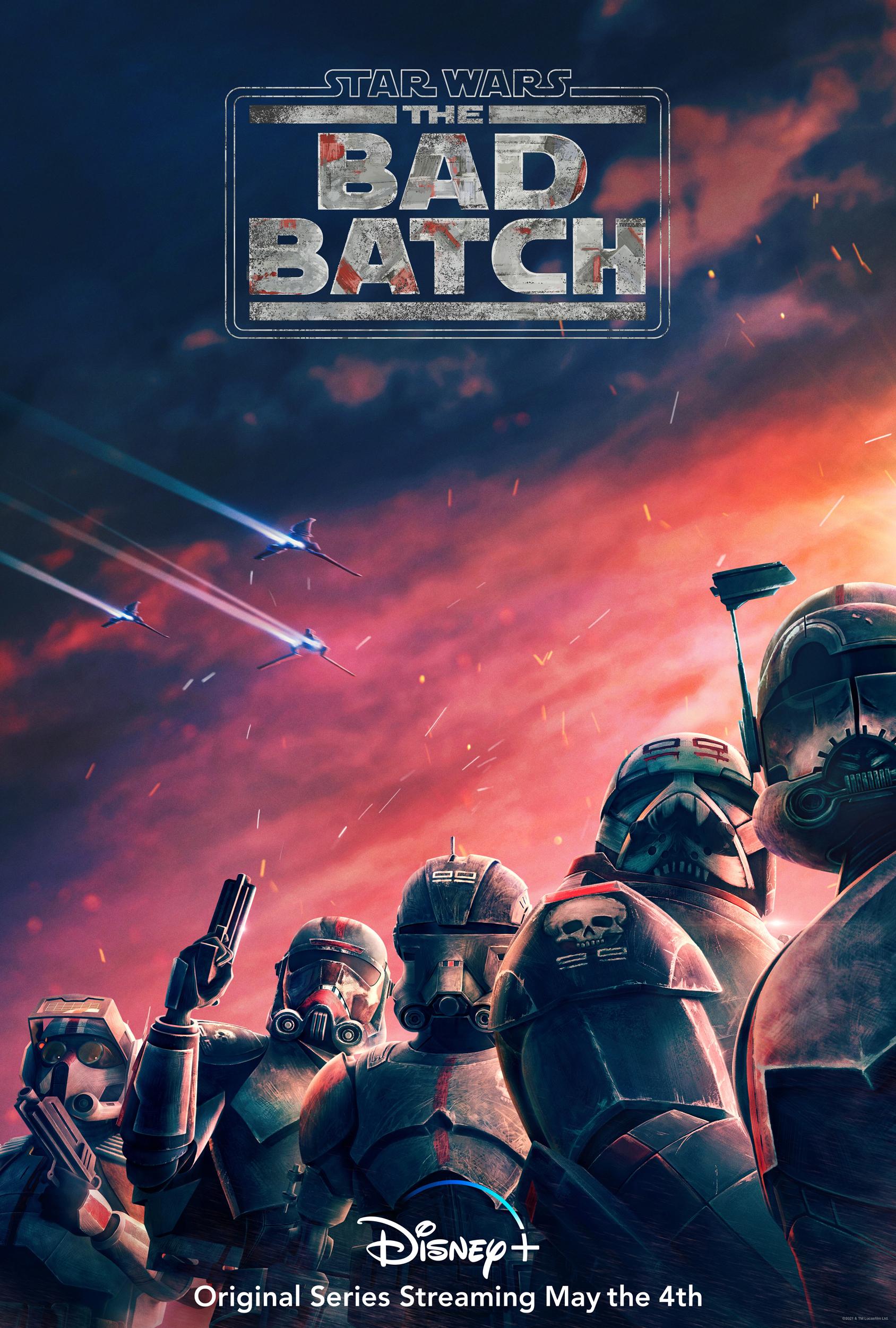 Star Wars Bad Batch Bad Batch Star Wars Clone Trooper TV Series Poster Portrait Display Spaceship 1688x2500