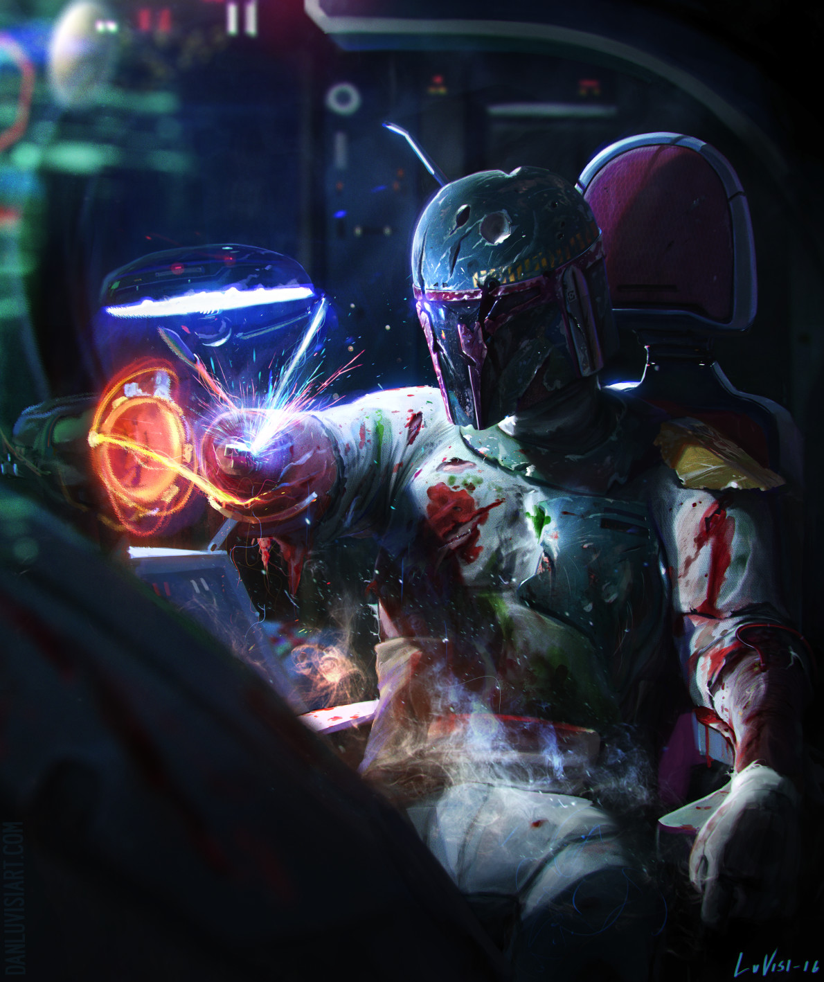 Star Wars Science Fiction Dan Luvisi Star Wars Villains Villains Bounty Hunter Boba Fett 1190x1418