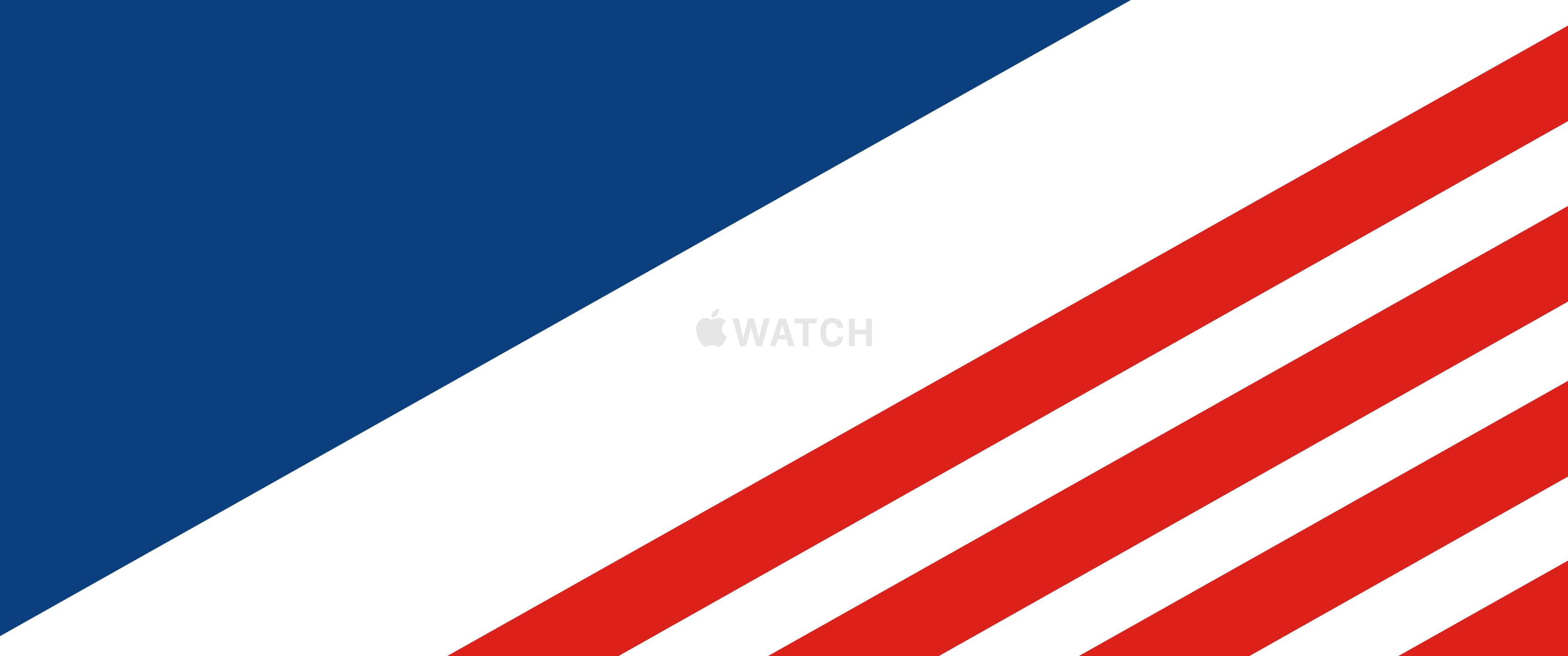 Flag USA Apple Inc Watch Computer 3440x1440