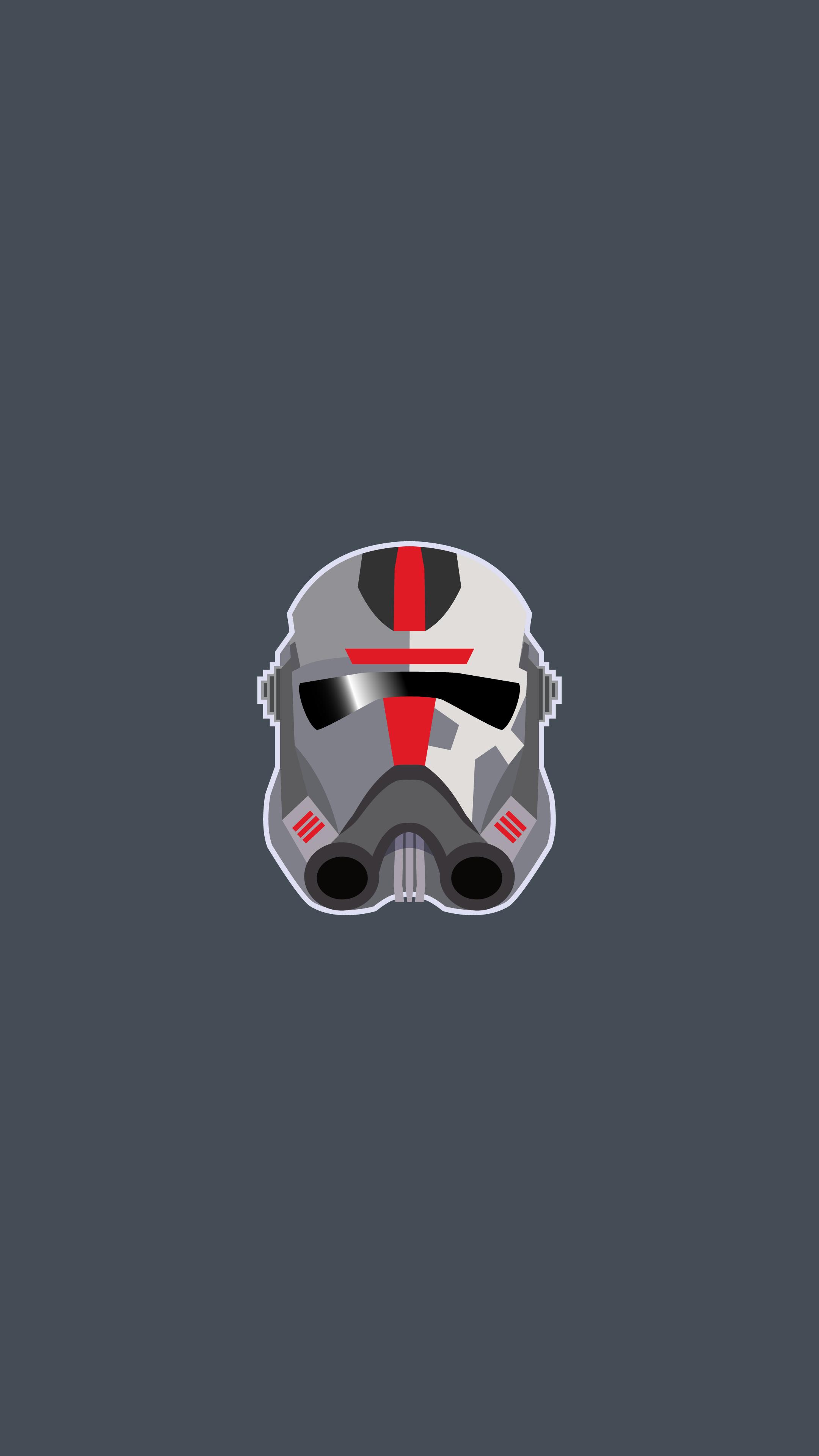 Star Wars Bad Batch Star Wars Bad Batch Helmet Clone Trooper TV Series Minimalism Gray Background Po 2160x3840