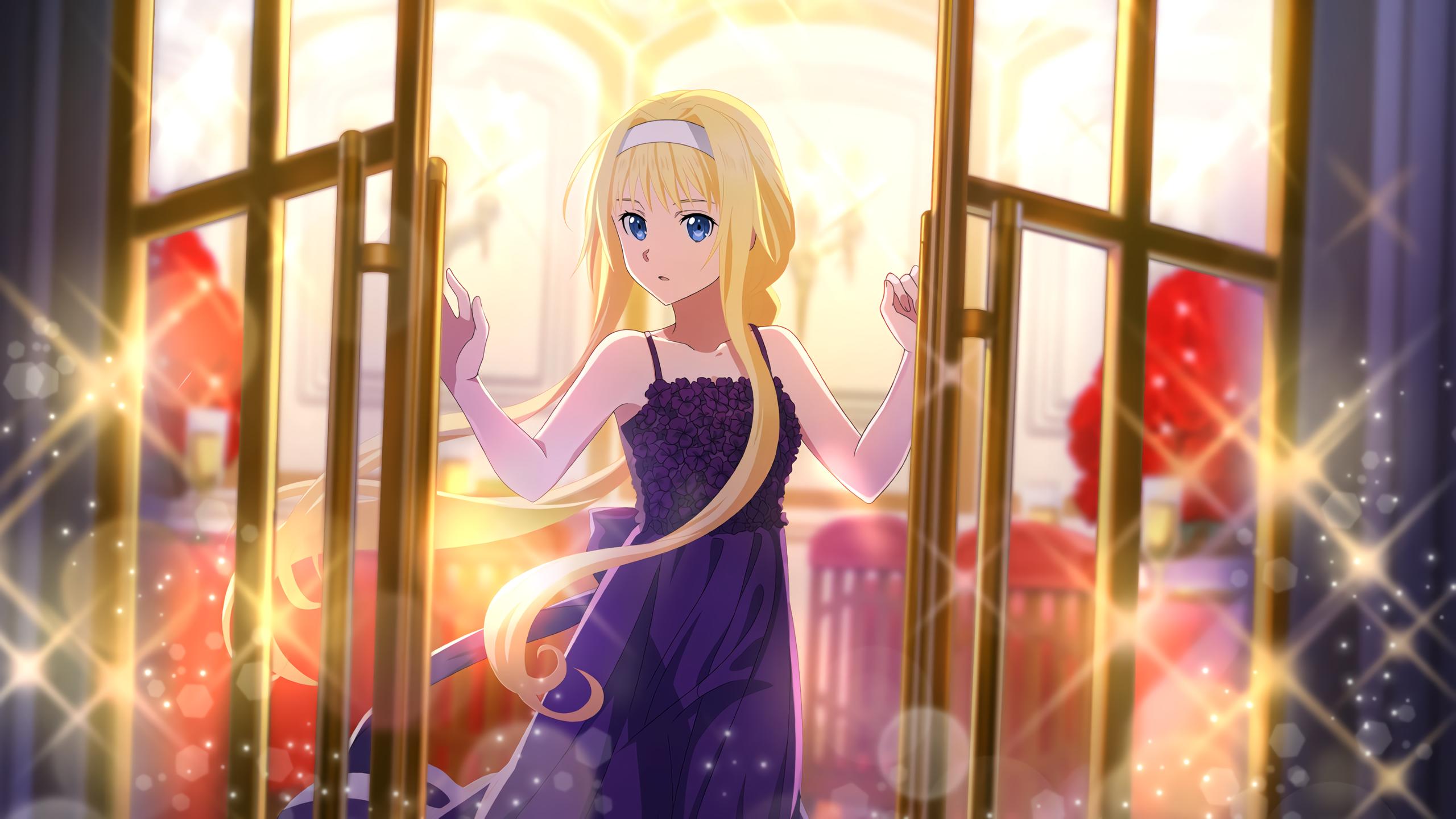 Girl Blonde Alice Zuberg 2560x1440