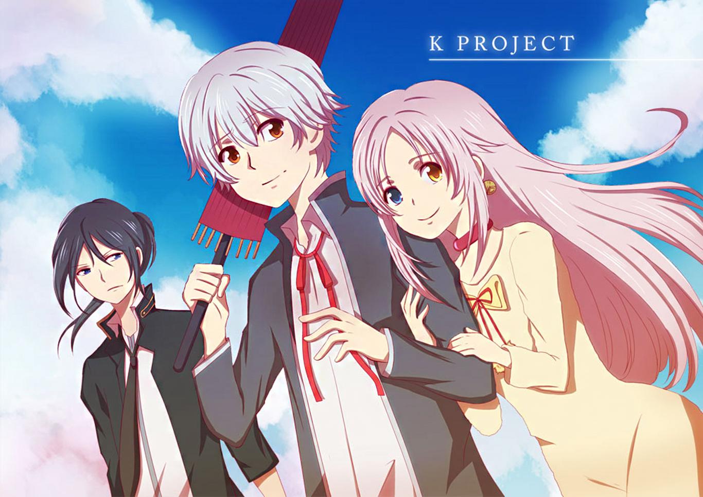 Isana Yashiro Yatogami Kuroh Neko K Project K Project Anime Series Manga Fan Art Digital Art Artwork 1366x966