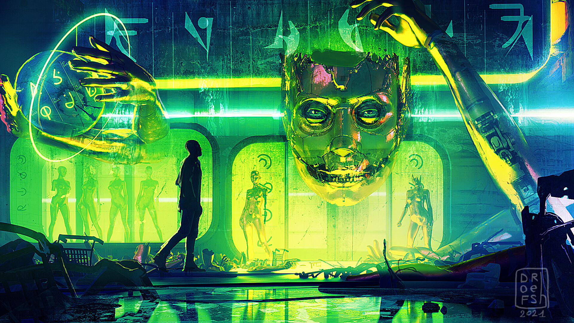 Artwork Science Fiction Cyberpunk 1920x1080