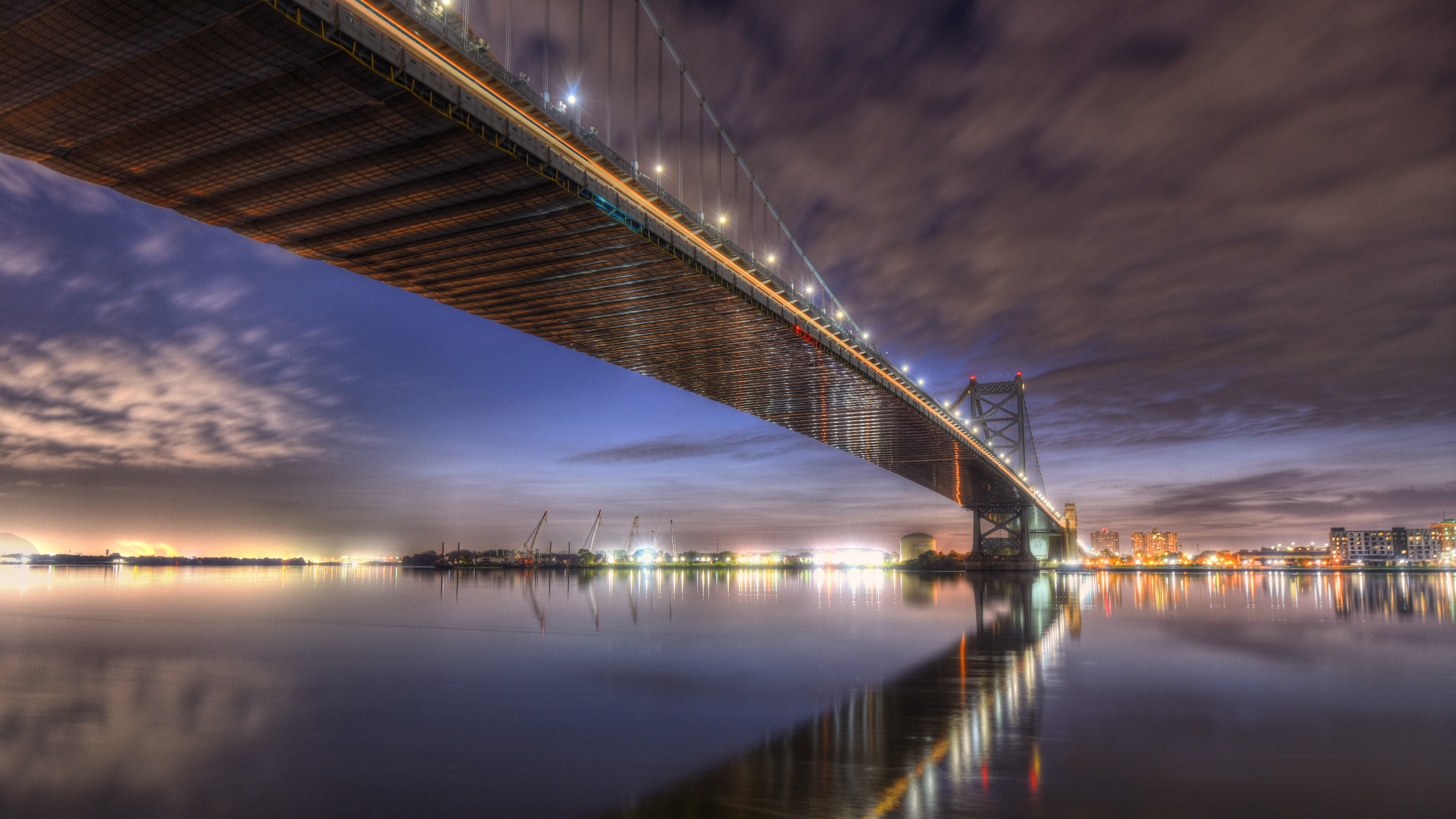Pennsylvania Philadelphia Benjamin Franklin Bridge 3840x2160