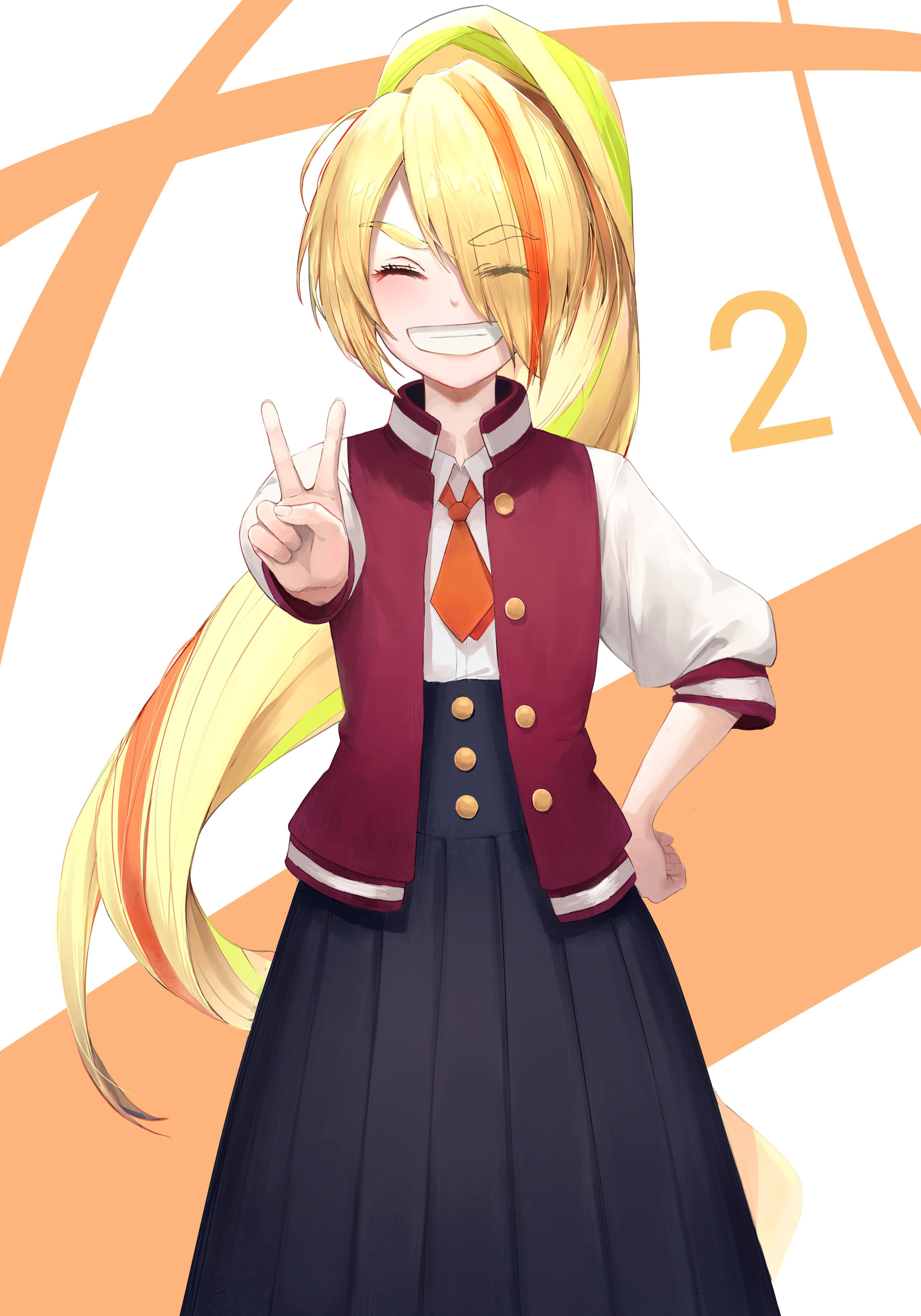 Zombieland Saga Standing School Uniform Long Hair Long Skirt Smile Anime Girls Looking At Viewer Pon 2908x4156