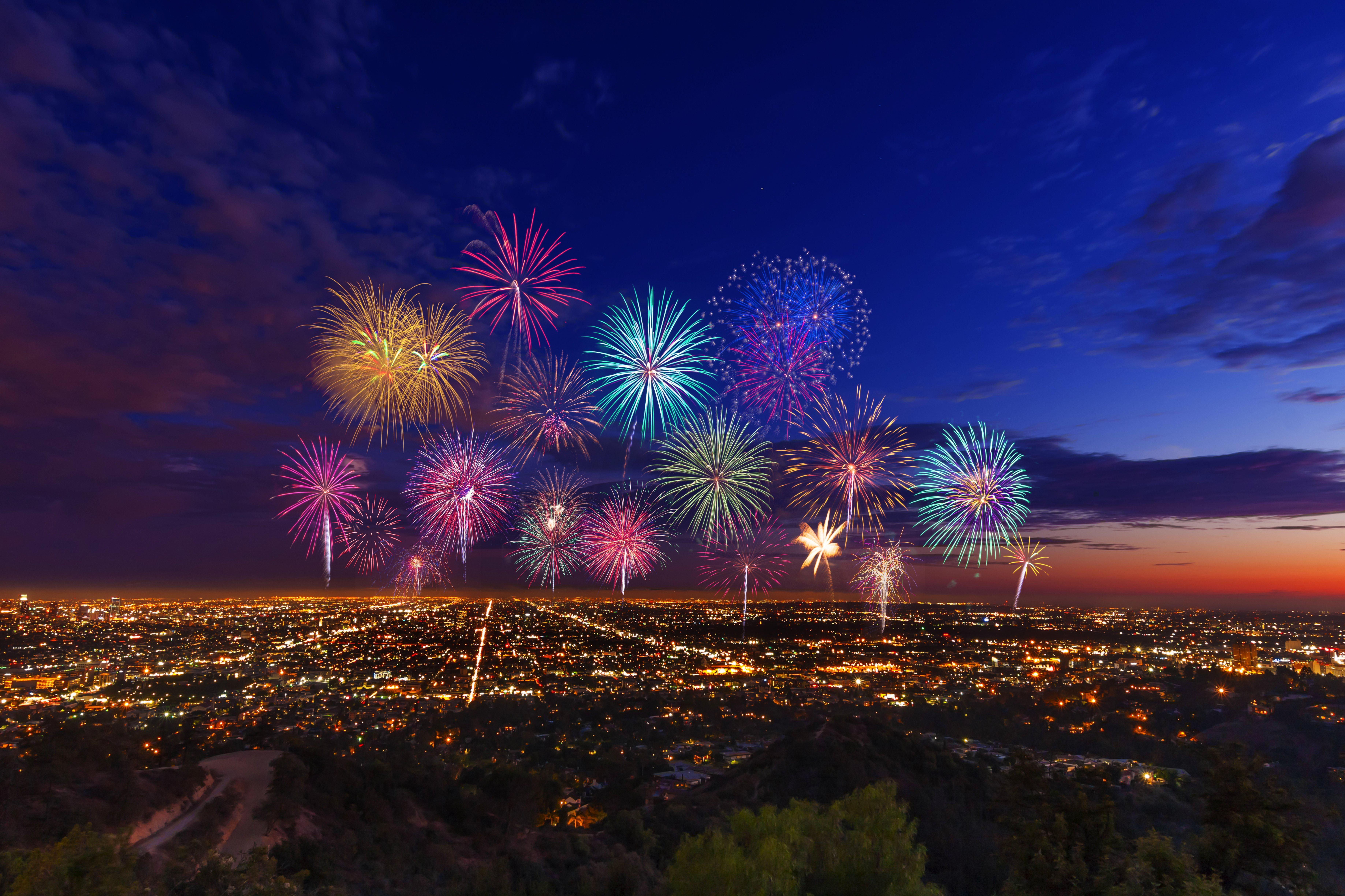 Usa Los Angeles City Night 7348x4899