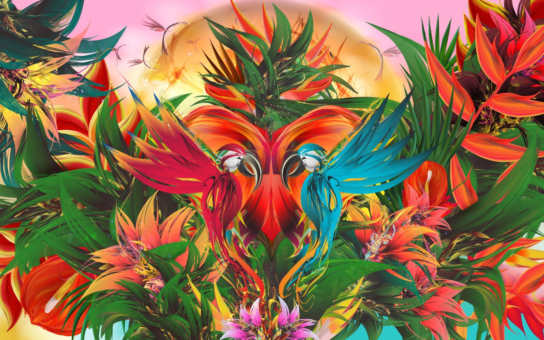 Parrot Flower Macaw 2880x1800
