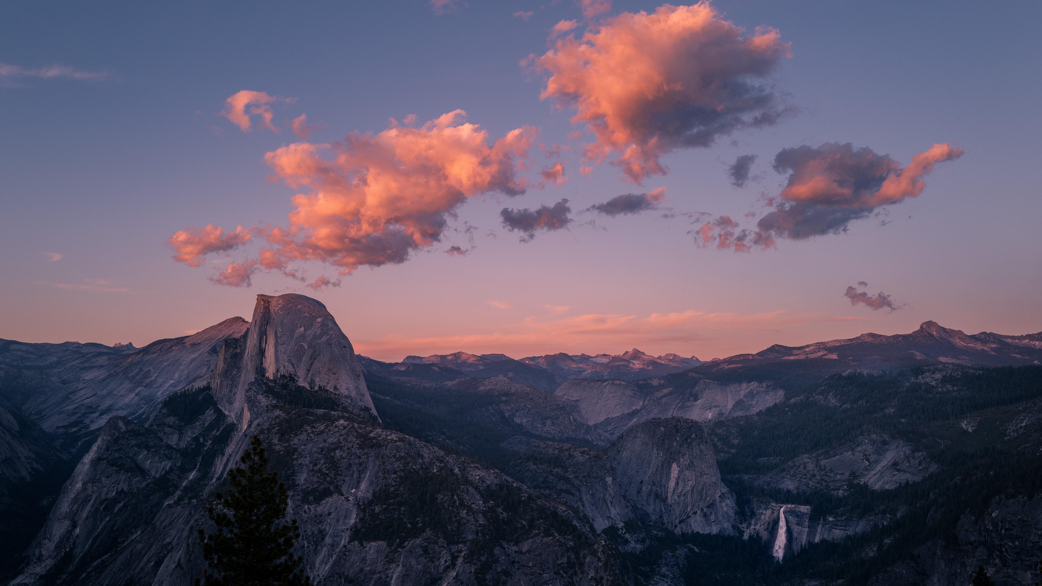 Landscape Clouds Yosemite National Park USA 4000x2250