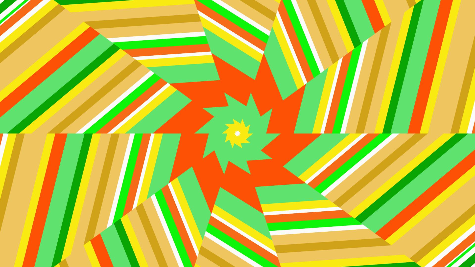 Artistic Digital Art Colorful Lines Shapes Geometry 1920x1080