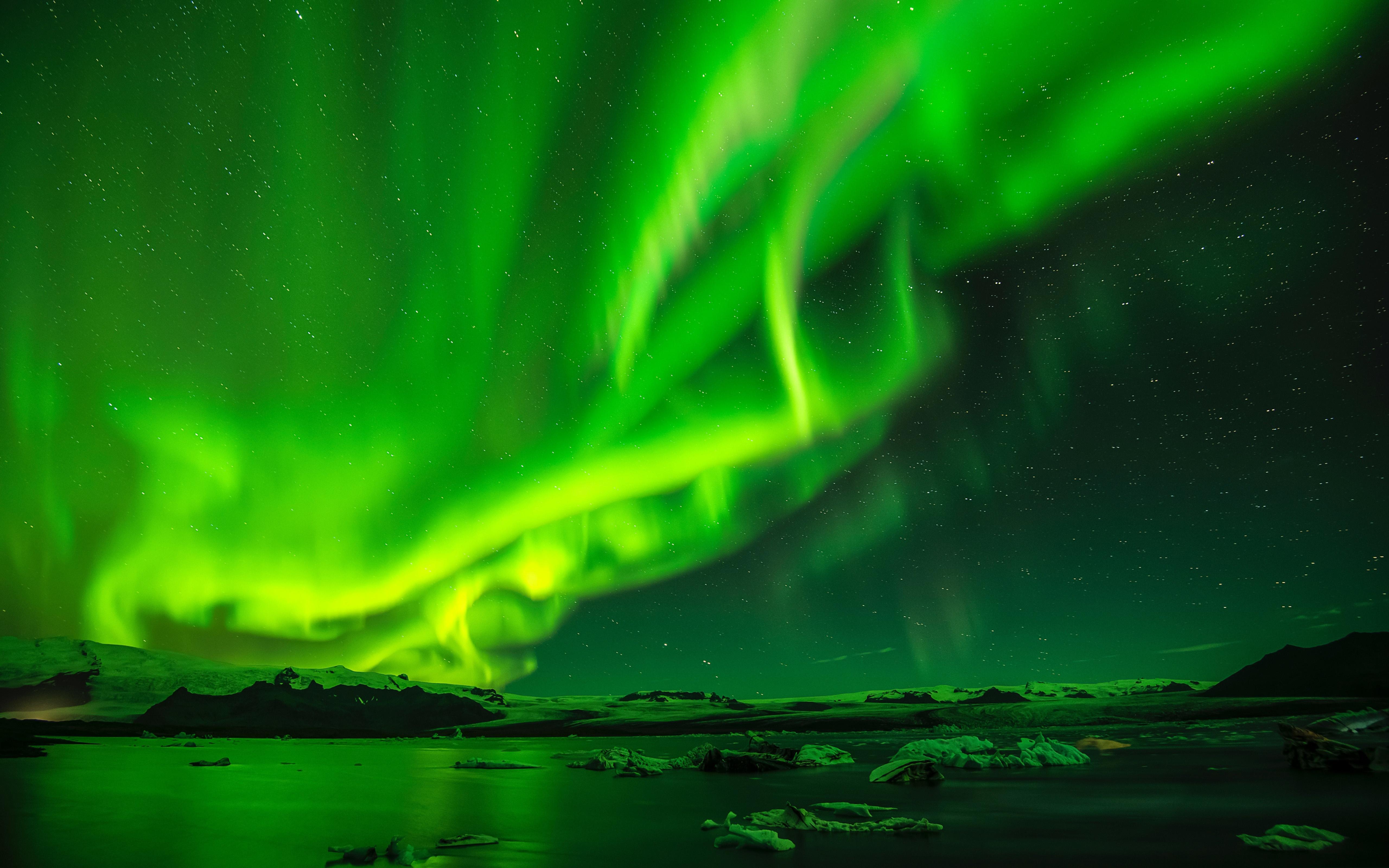 Nature Night Sky Light 5120x3200