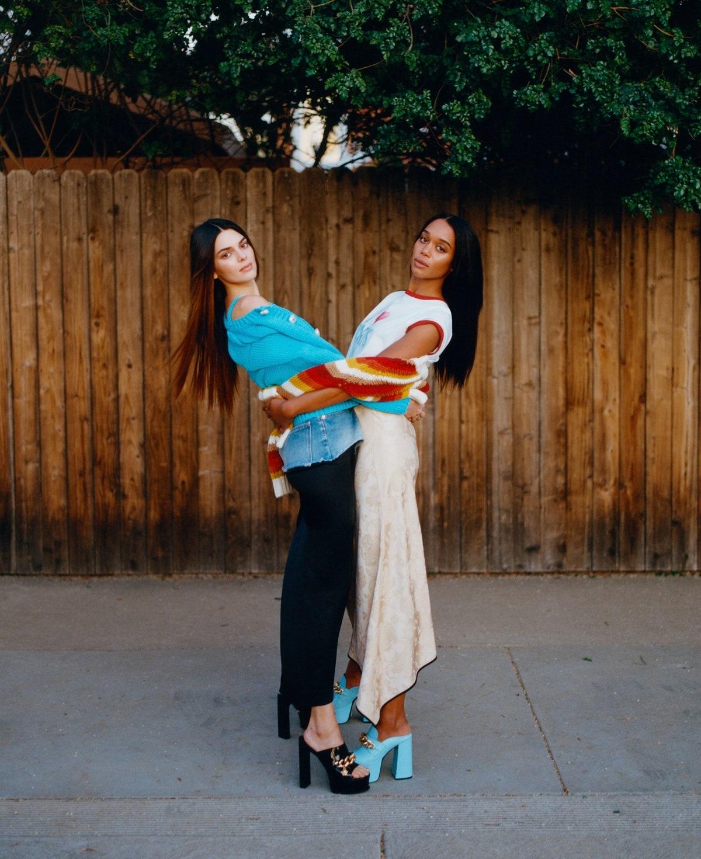 Kendall Jenner Laura Harrier Women Two Women Model Actress Dark Hair Long Hair Straight Hair Fashion 1200x1471