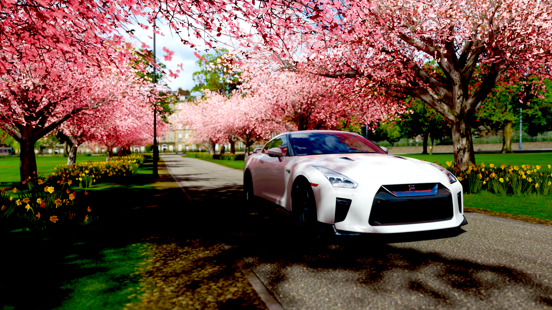 Forza Horizon 4 GTR R33 Video Games Car Screen Shot Vehicle White Cars 1920x1080