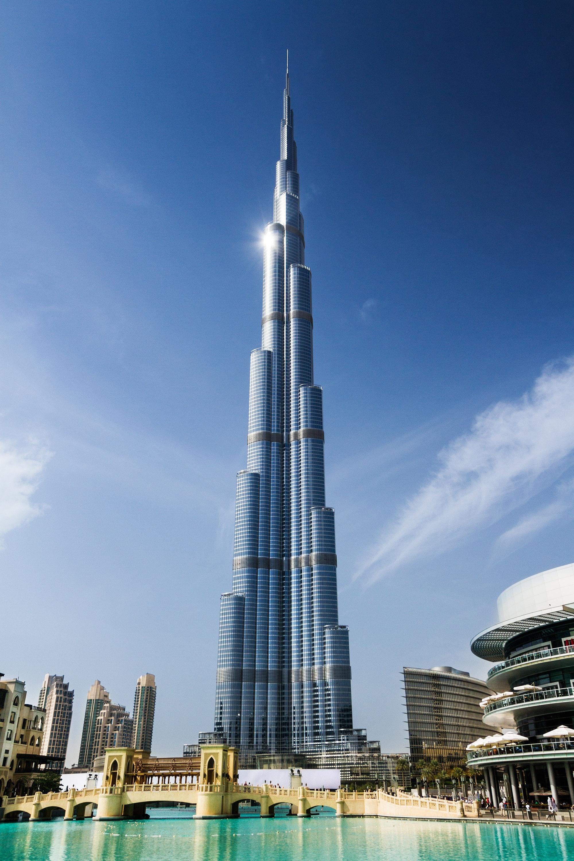 Building Clouds Architecture Burj Khalifa 2000x3000