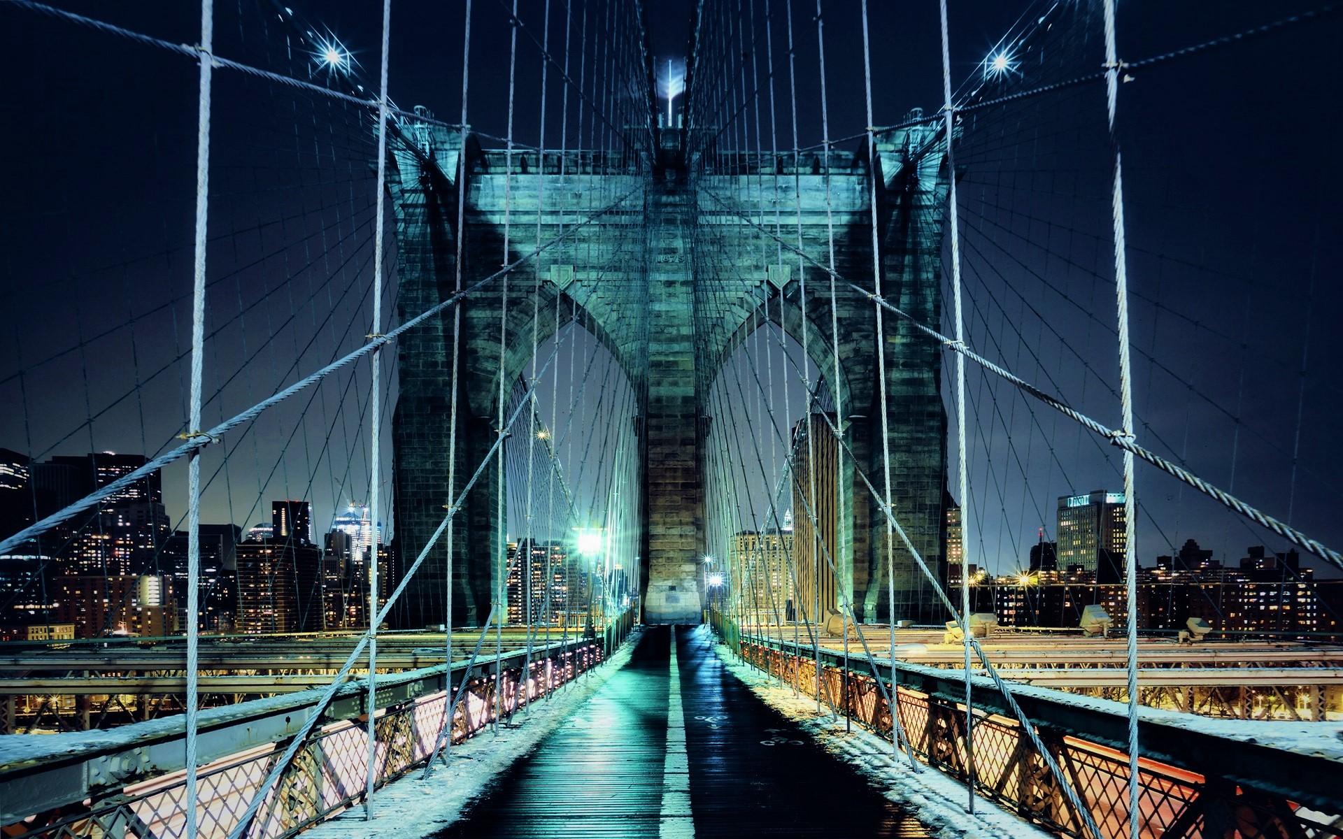Bridge Night New York 1920x1200