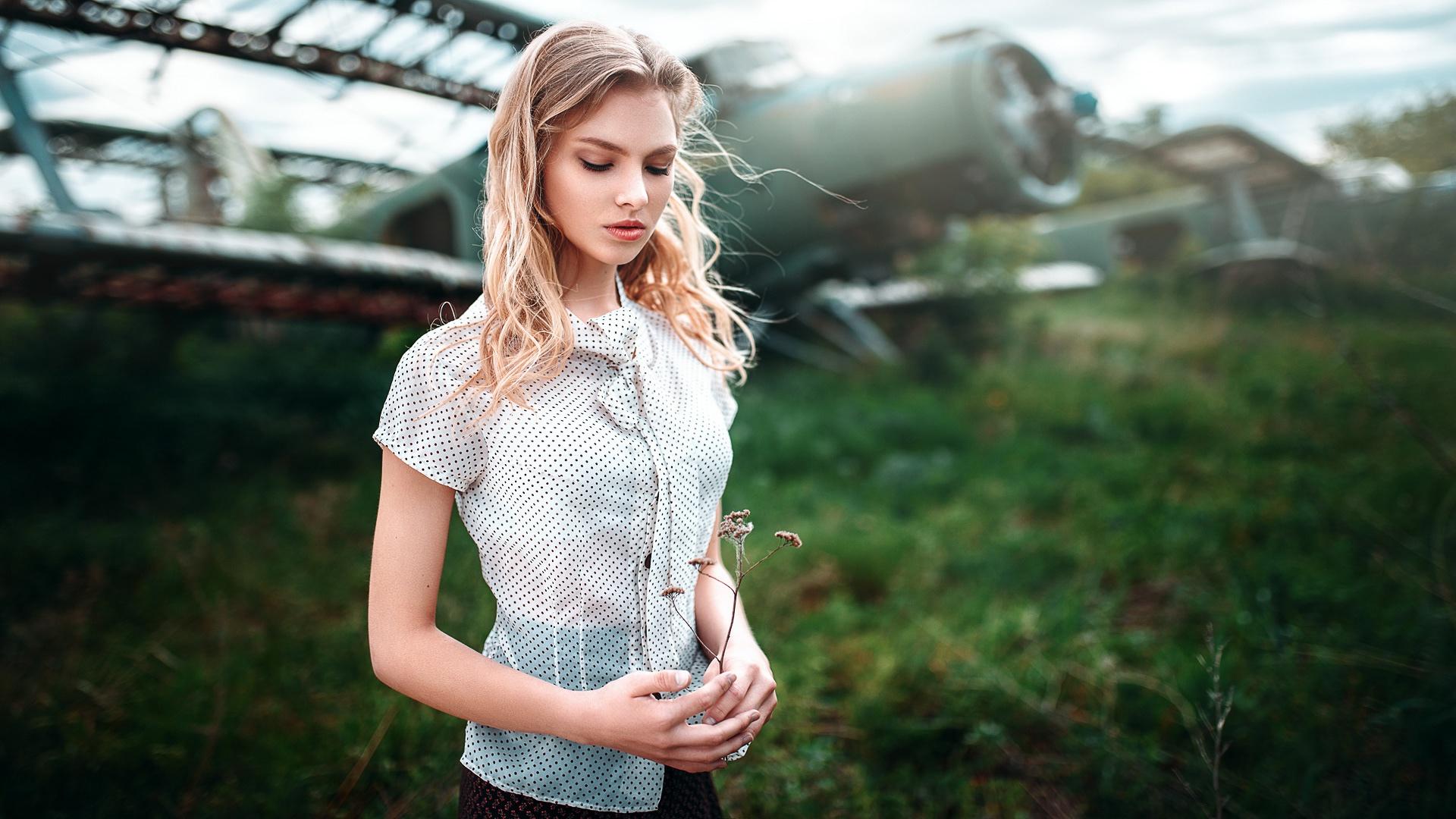 Woman Model Girl Blonde 1920x1080
