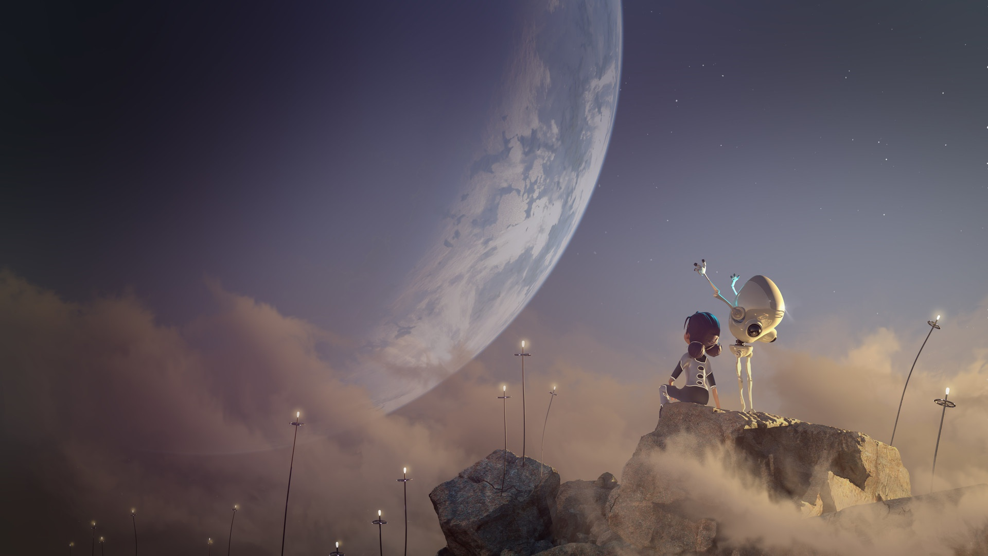 Planet Child Little Girl 1920x1080