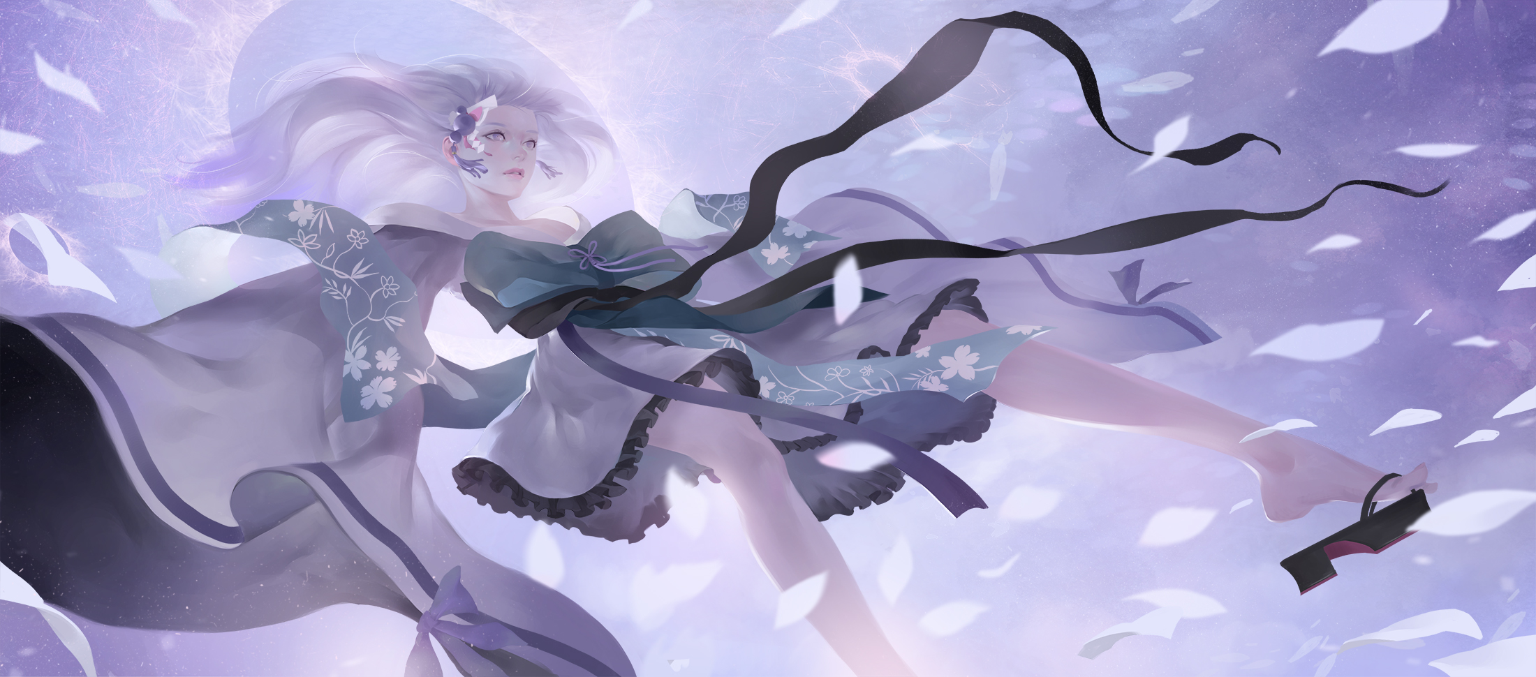 Digital Art Illustration Midfinger Original Characters 2200x970