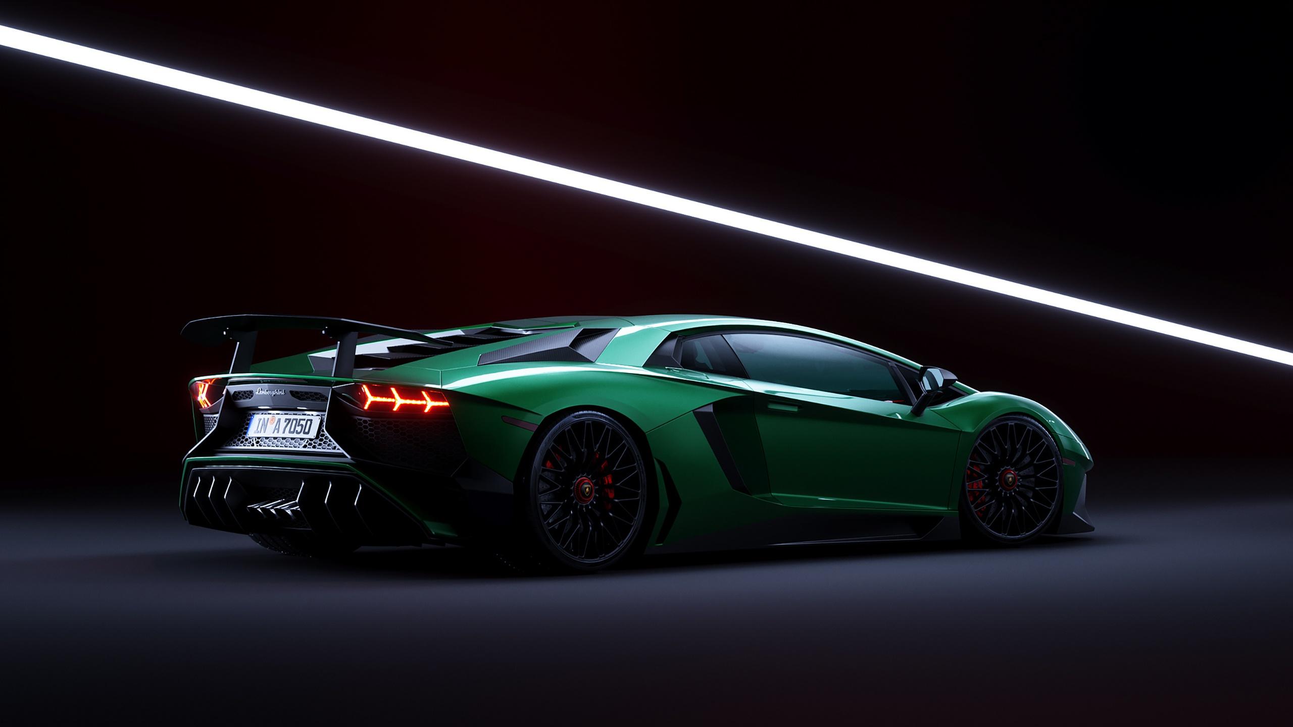 Lamborghini Car Supercar Sport Car Green Car 2560x1440
