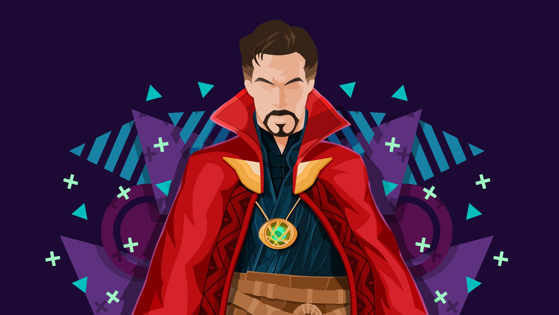 Benedict Cumberbatch Minimalist Marvel Comics 3000x1688