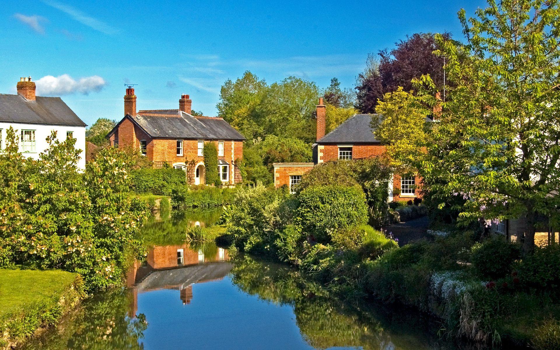 Tree England House River 1920x1200