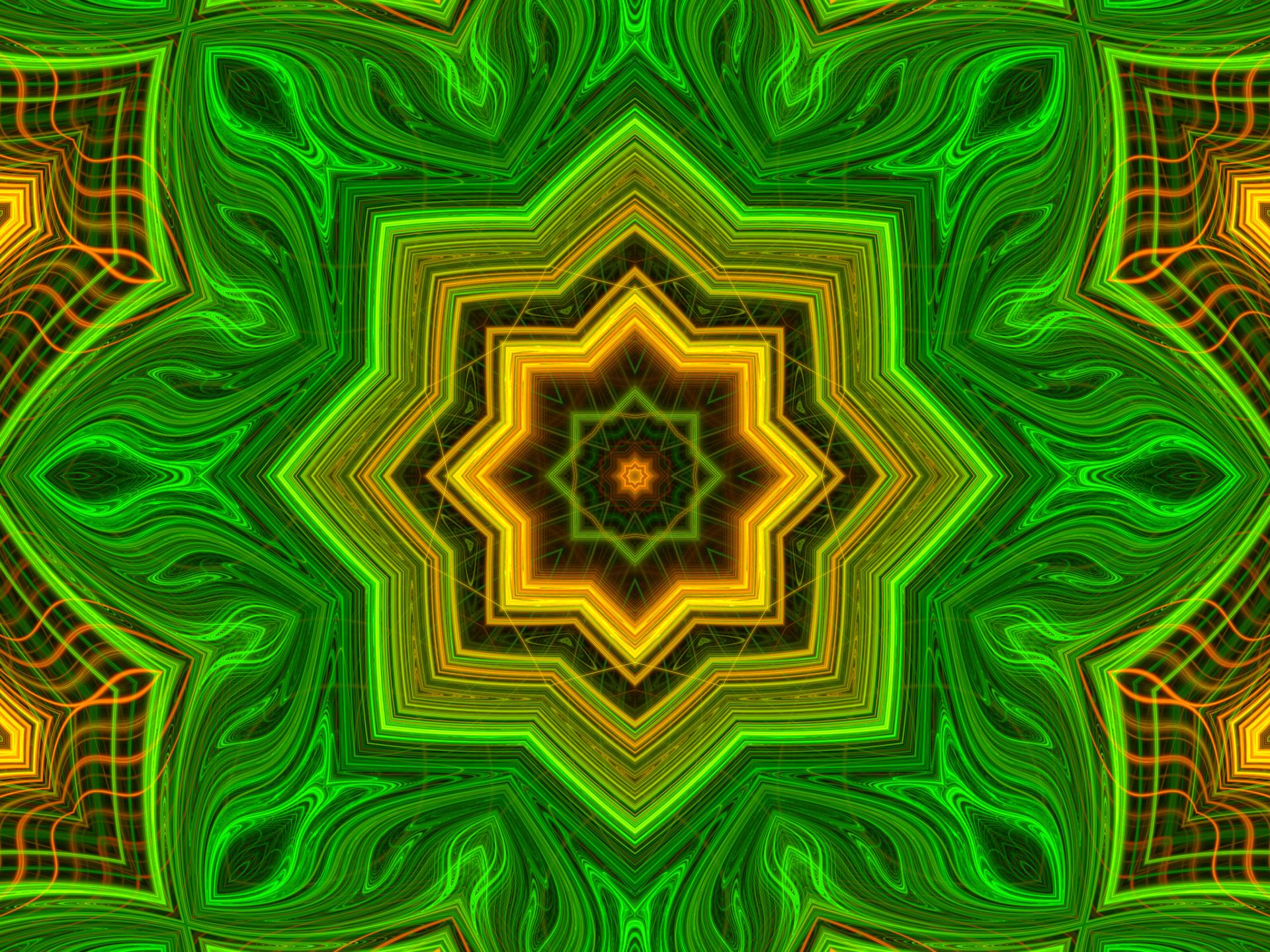 Artistic Digital Art Colors Pattern Green 1920x1440