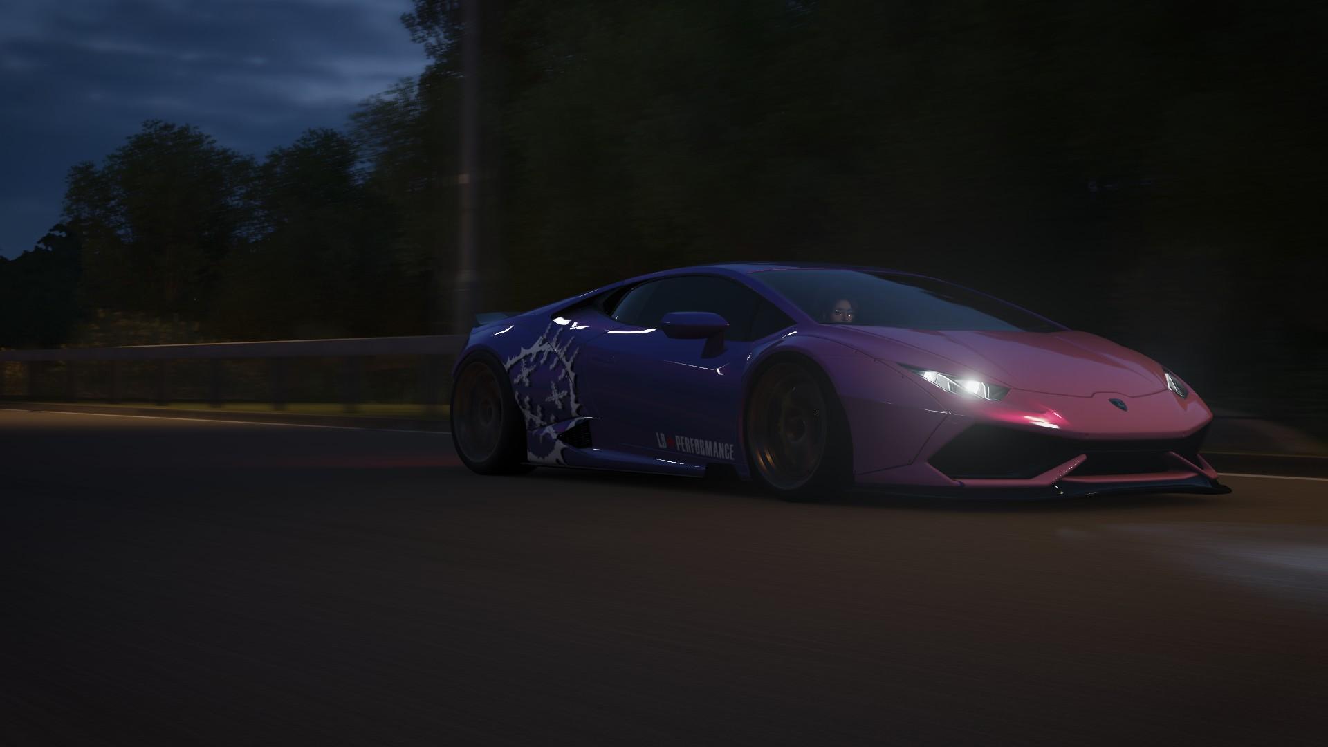 Forza Horizon Forza Lamborghini Car Dark Night Road Midnight Japanese Cars Forza Horizon 4 Drive Mov 1920x1080