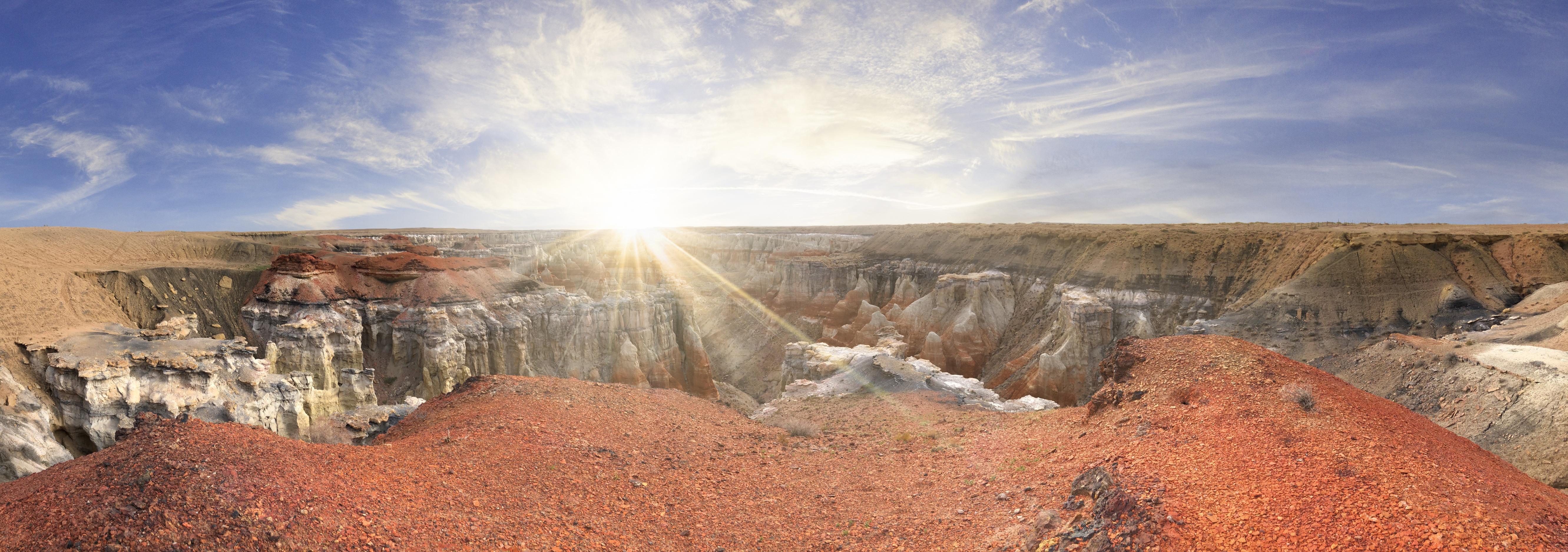 Panorama Usa Canyon Sunbeam Rock 5325x1877