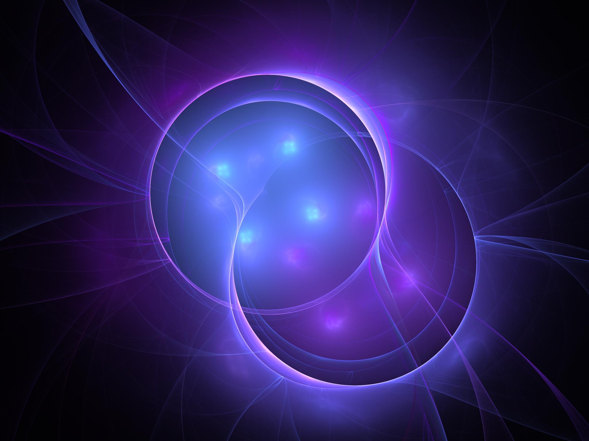 Plasma Apophysis Software Digital Art Violet Energy Circle 2048x1536