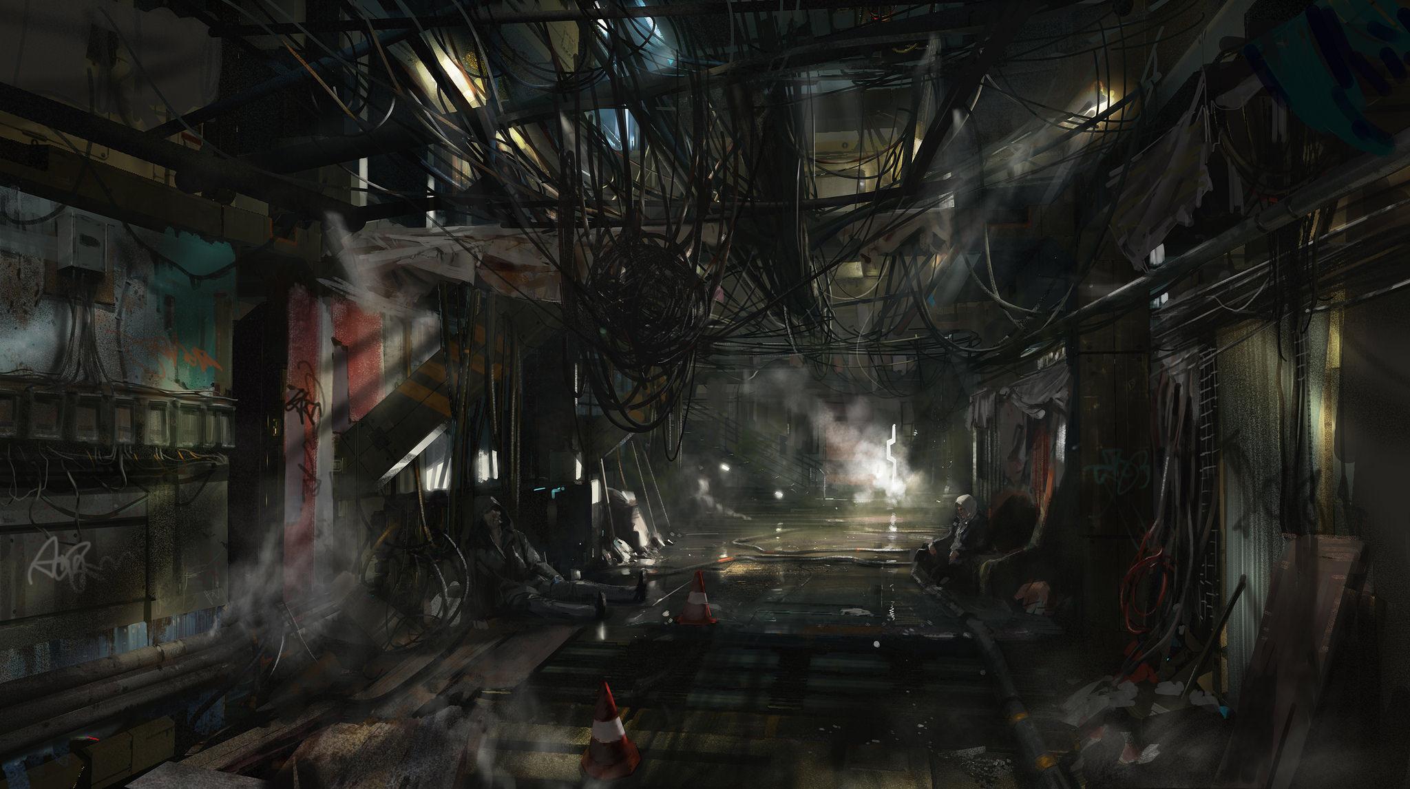 Video Game Deus Ex Mankind Divided 2048x1146