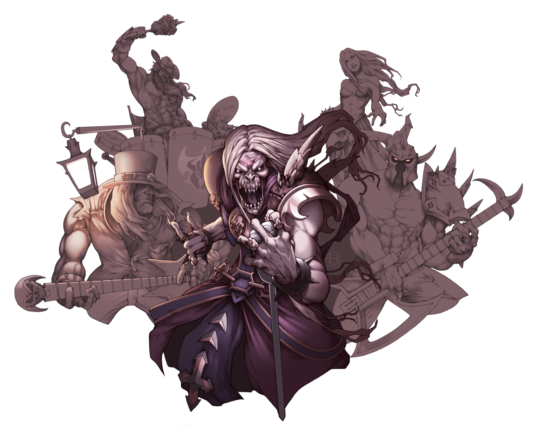 Karthus League Of Legends Kayle League Of Legends Mordekaiser League Of Legends Olaf League Of Legen 5296x4177