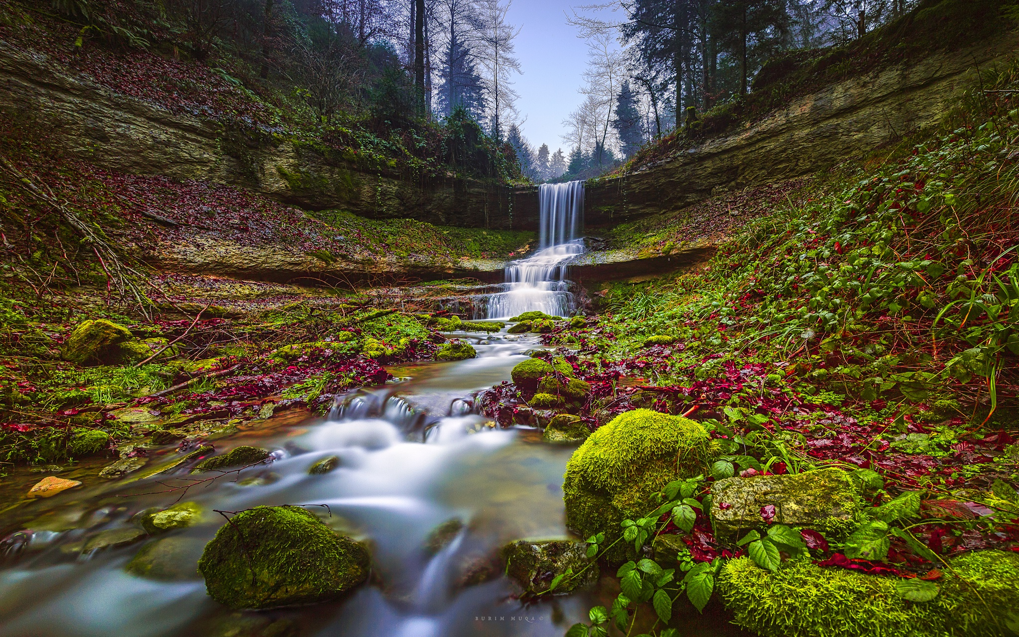 Nature Stream Moss Rock 2048x1280