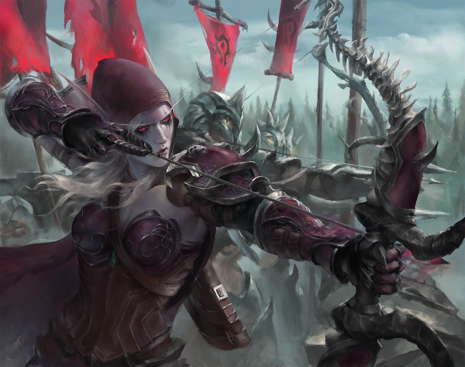 Astri Lohne Sylvanas Windrunner Fictional Character Digital Art Artwork World Of Warcraft Warcraft R 1920x1515
