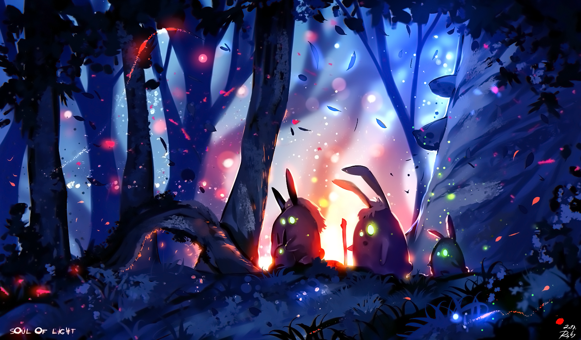 Bunny Light Tree Forest 1920x1125