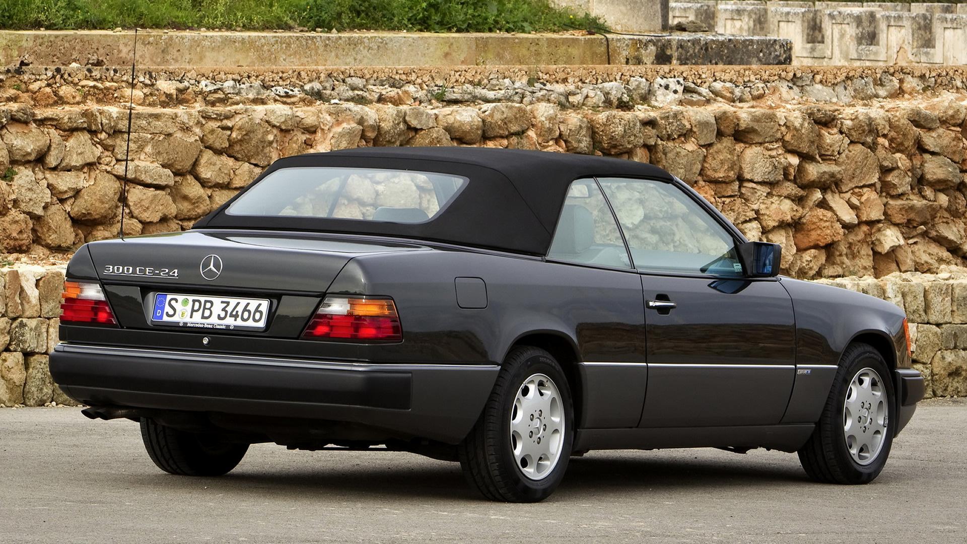 Black Car Car Convertible Luxury Car Mercedes Benz 300 Ce 24 Cabriolet 1920x1080