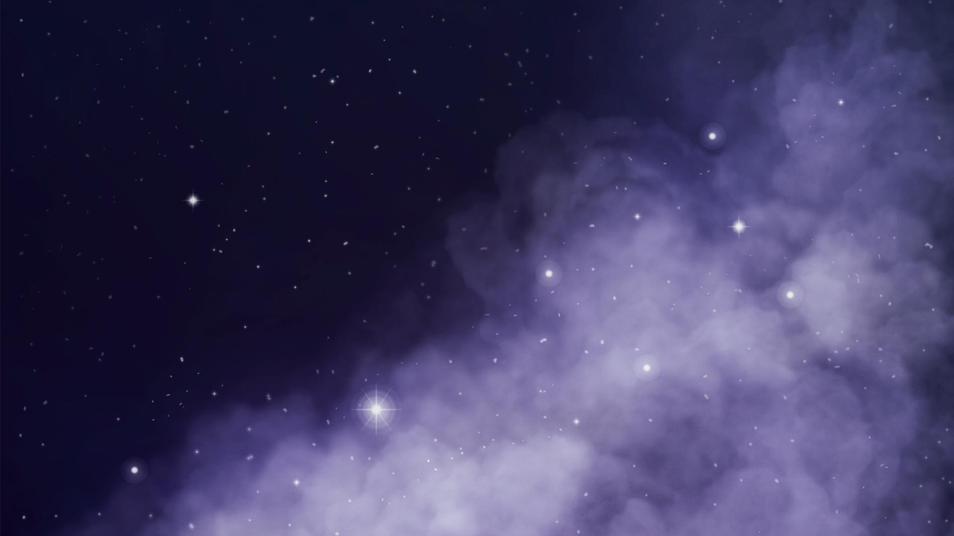 Galaxy Sky Cloud Stars 1920x1080