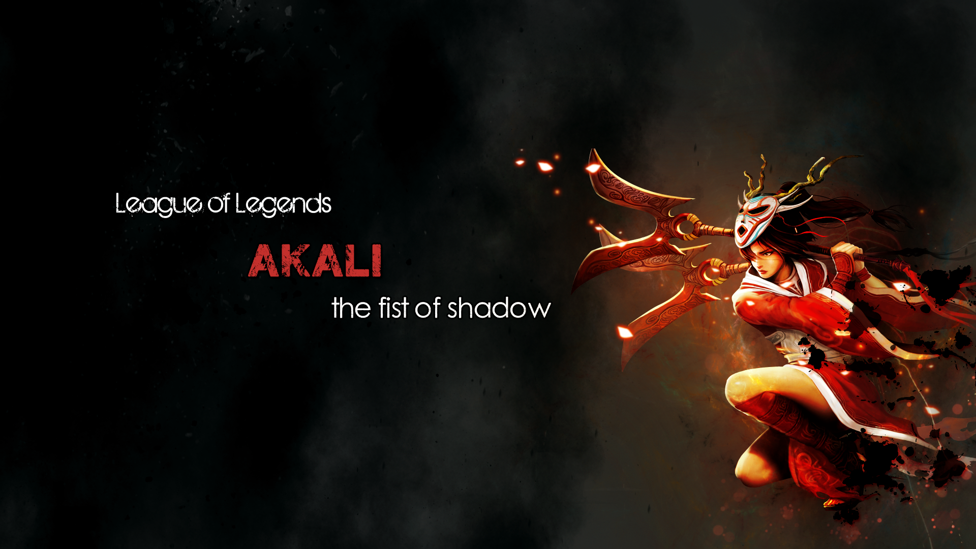 Woman Artistic Akali League Of Legends 1920x1080